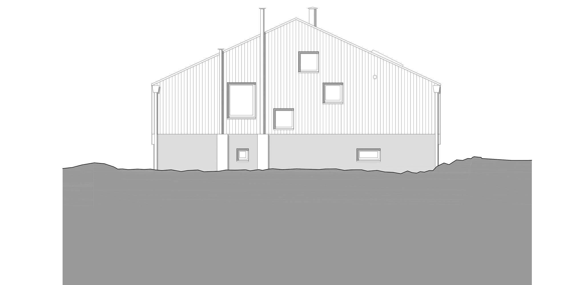 Prospetto Nord © Studio Razavi Architecture