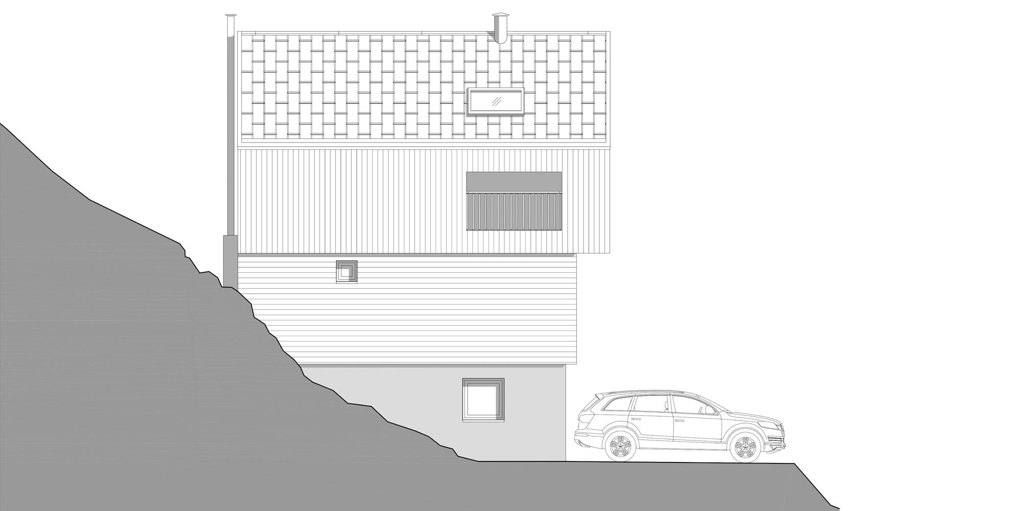 Prospetto Ovest © Studio Razavi Architecture