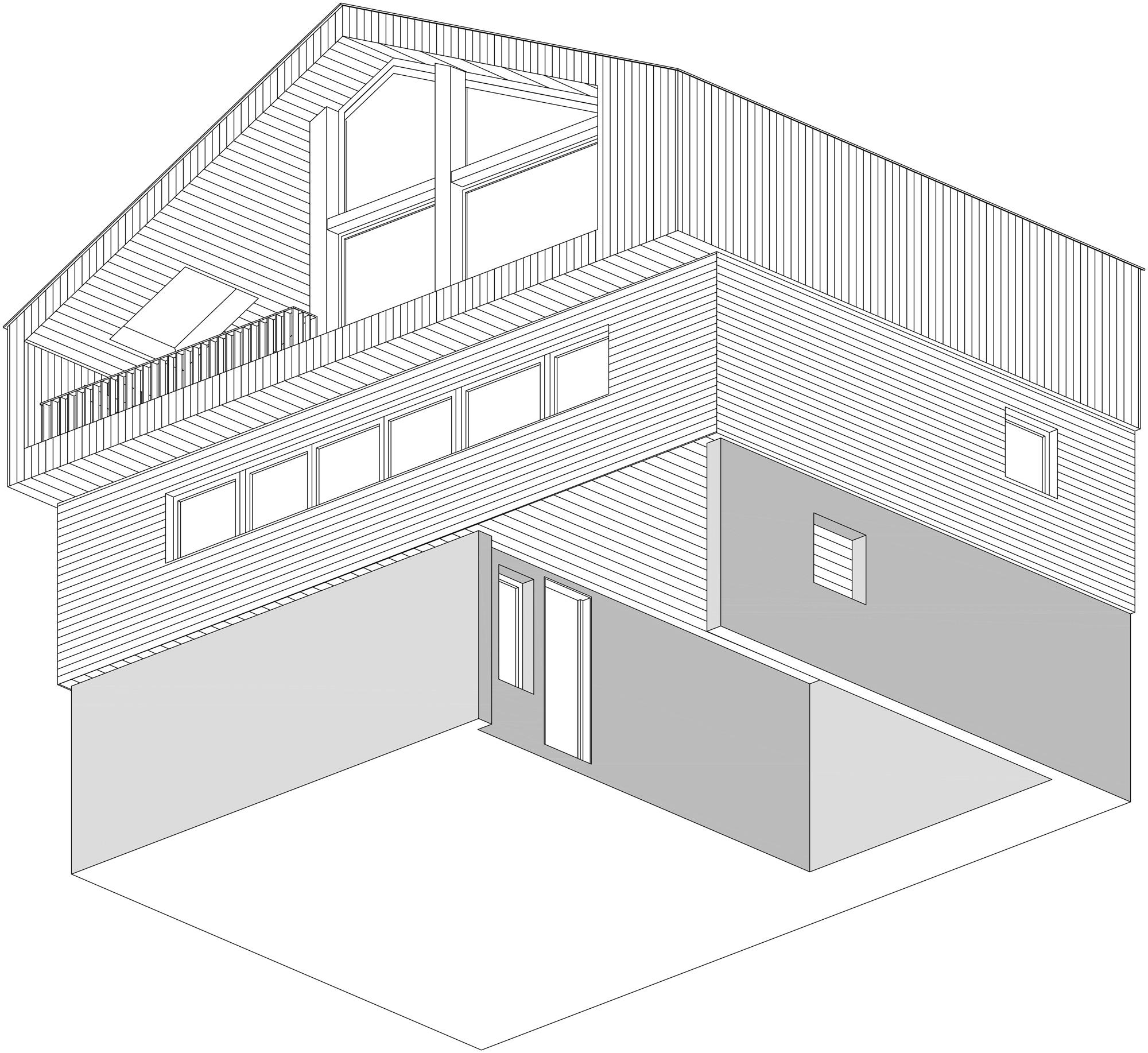 Vista assonometrica © Studio Razavi Architecture