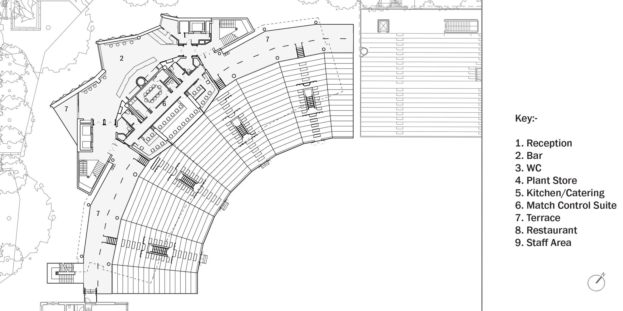 First Floor Plan © Populous