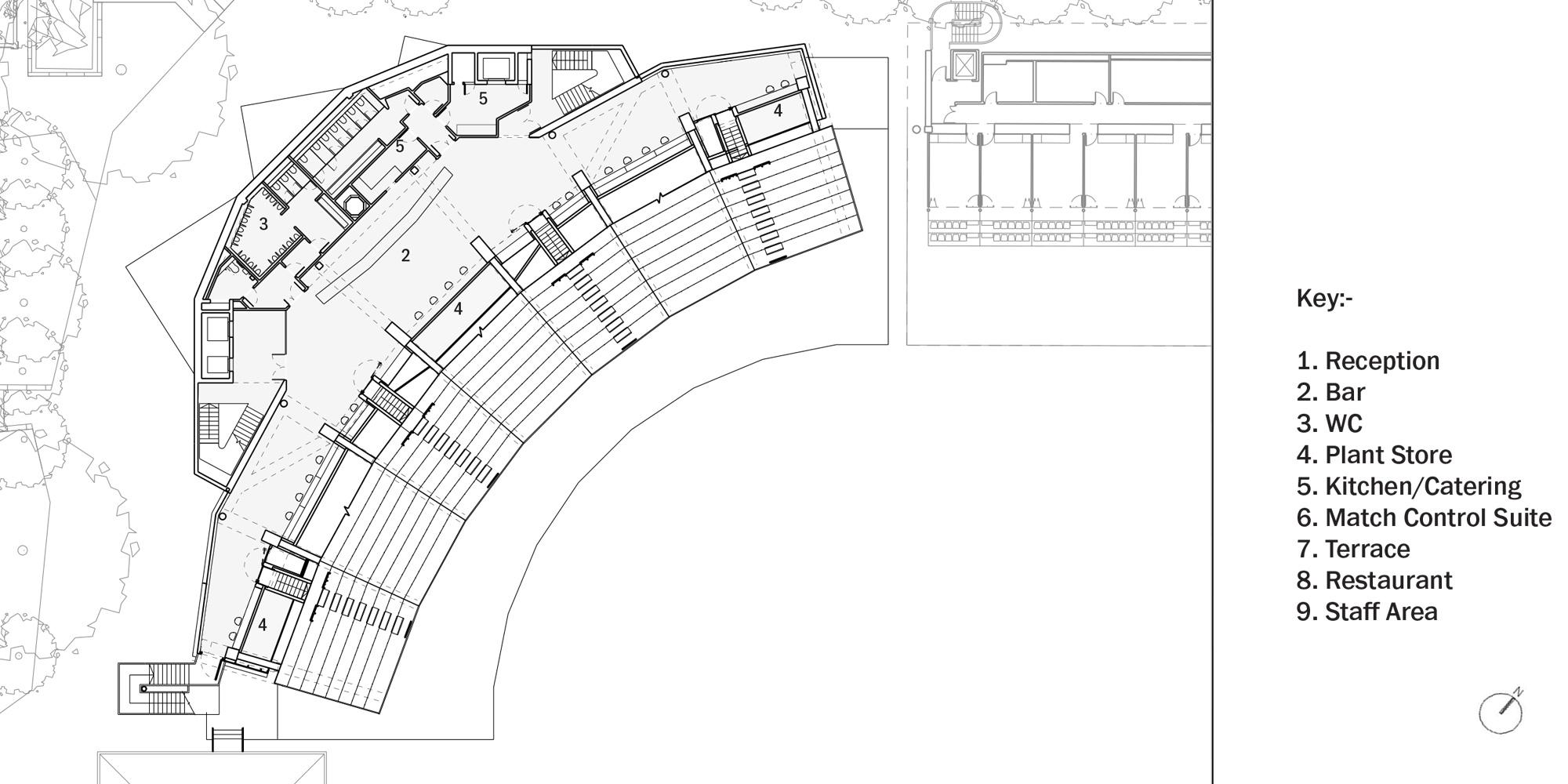 Second Floor Plan © Populous