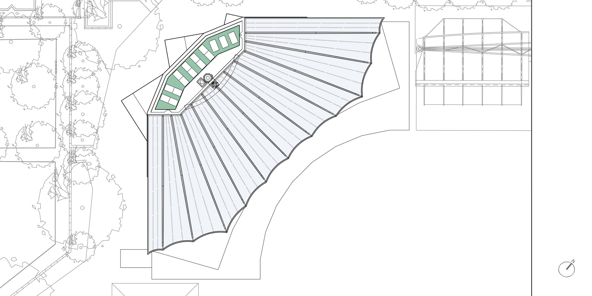 Roof Plan © Populous