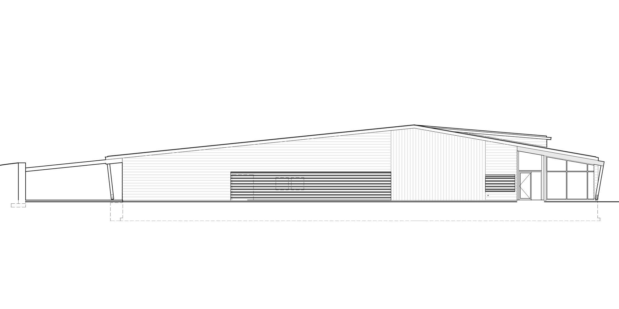 Prospetto Ovest © Graham Baba Architects