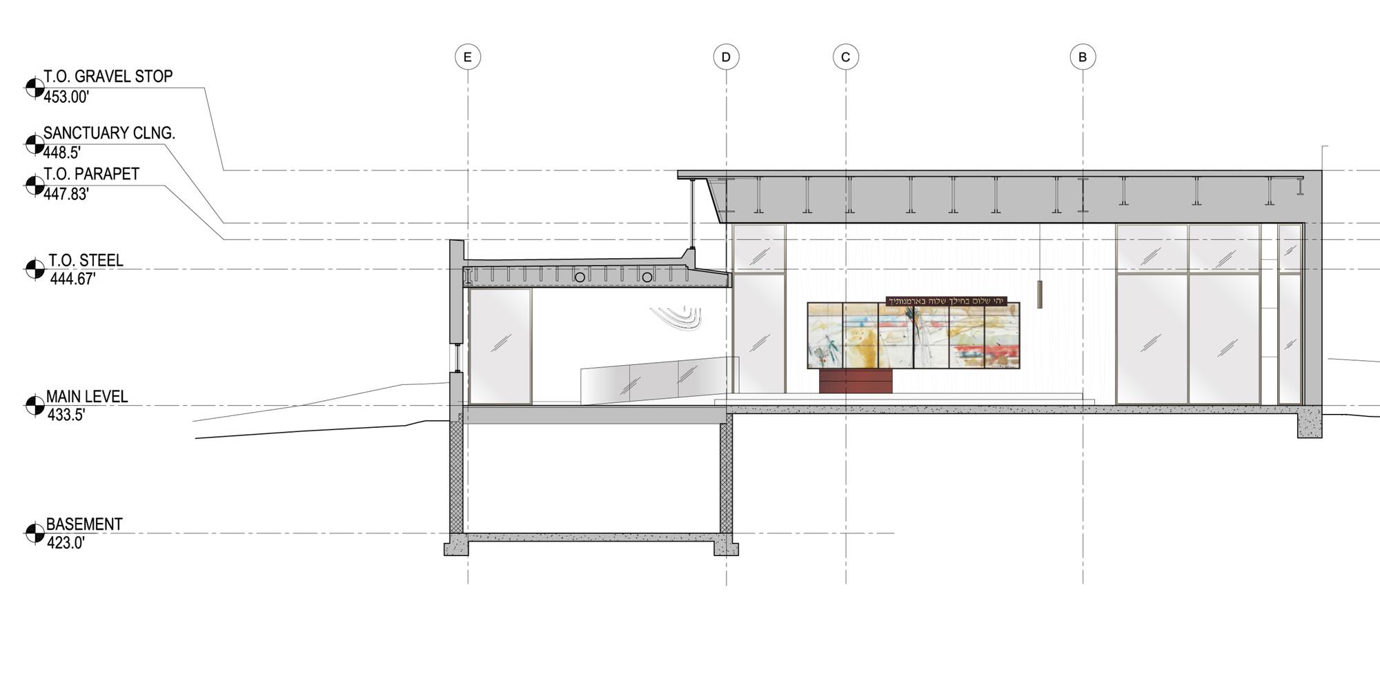 Dettaglio di sezione © Shinberg.Levinas Architects