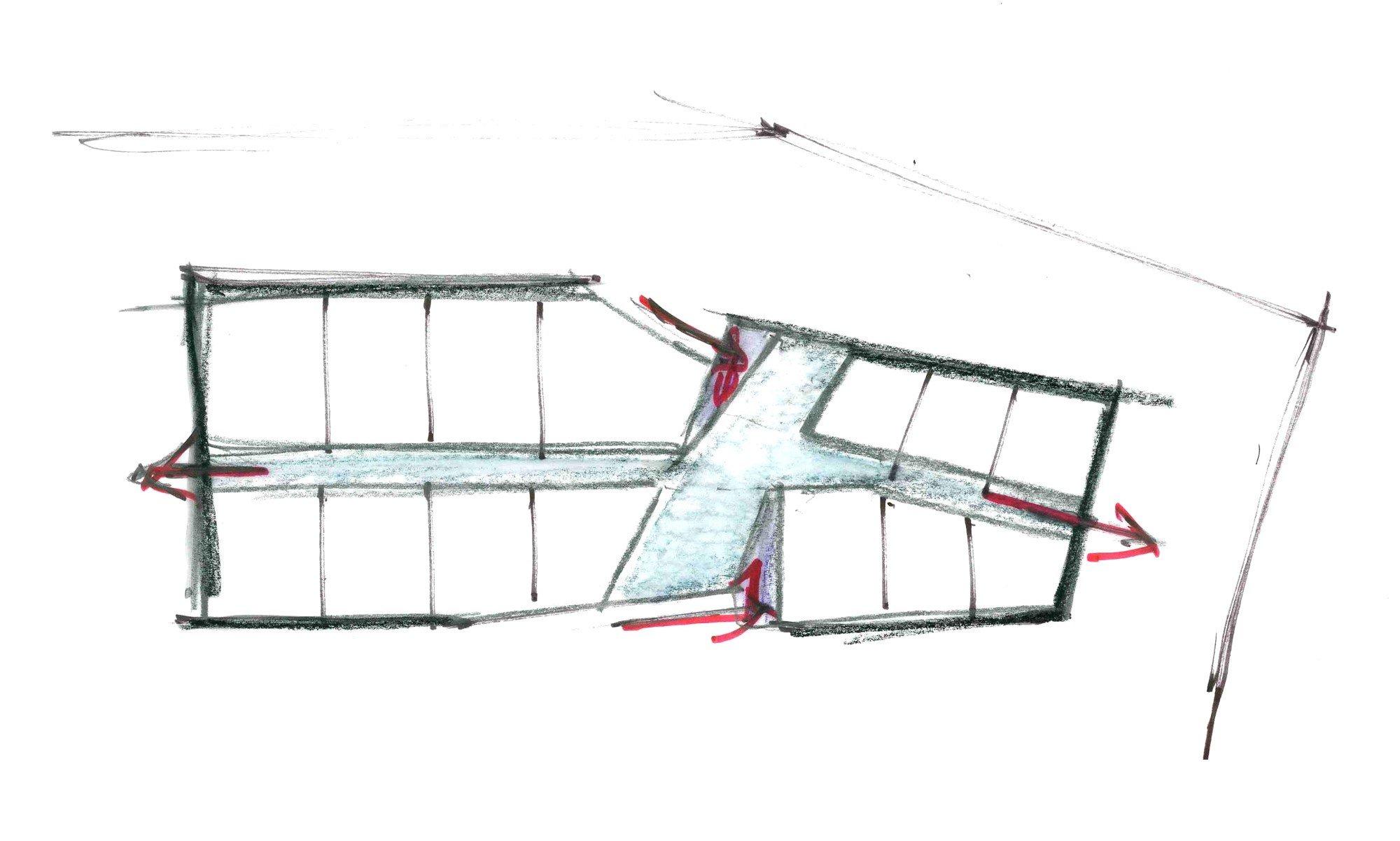 Schizzo di progetto © Shinberg.Levinas Architects