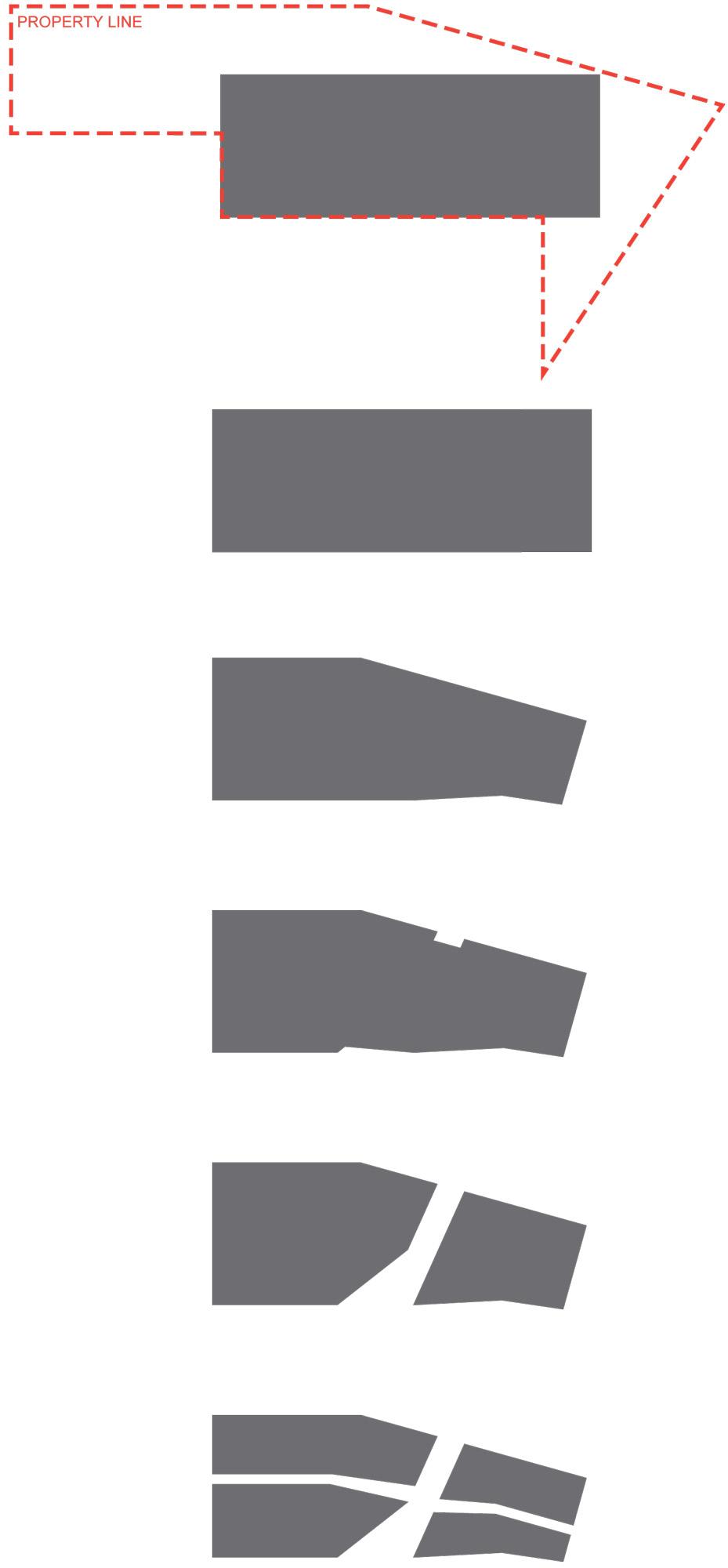 Diagramma delle geometrie © Shinberg.Levinas Architects