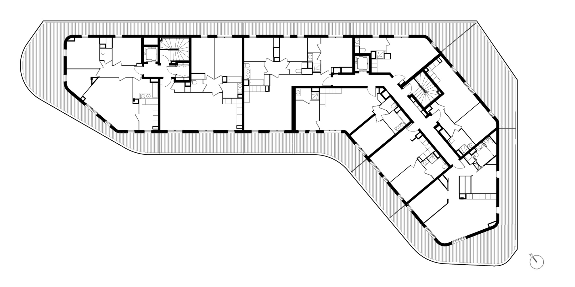 Attic Plan © PietriArchitectes