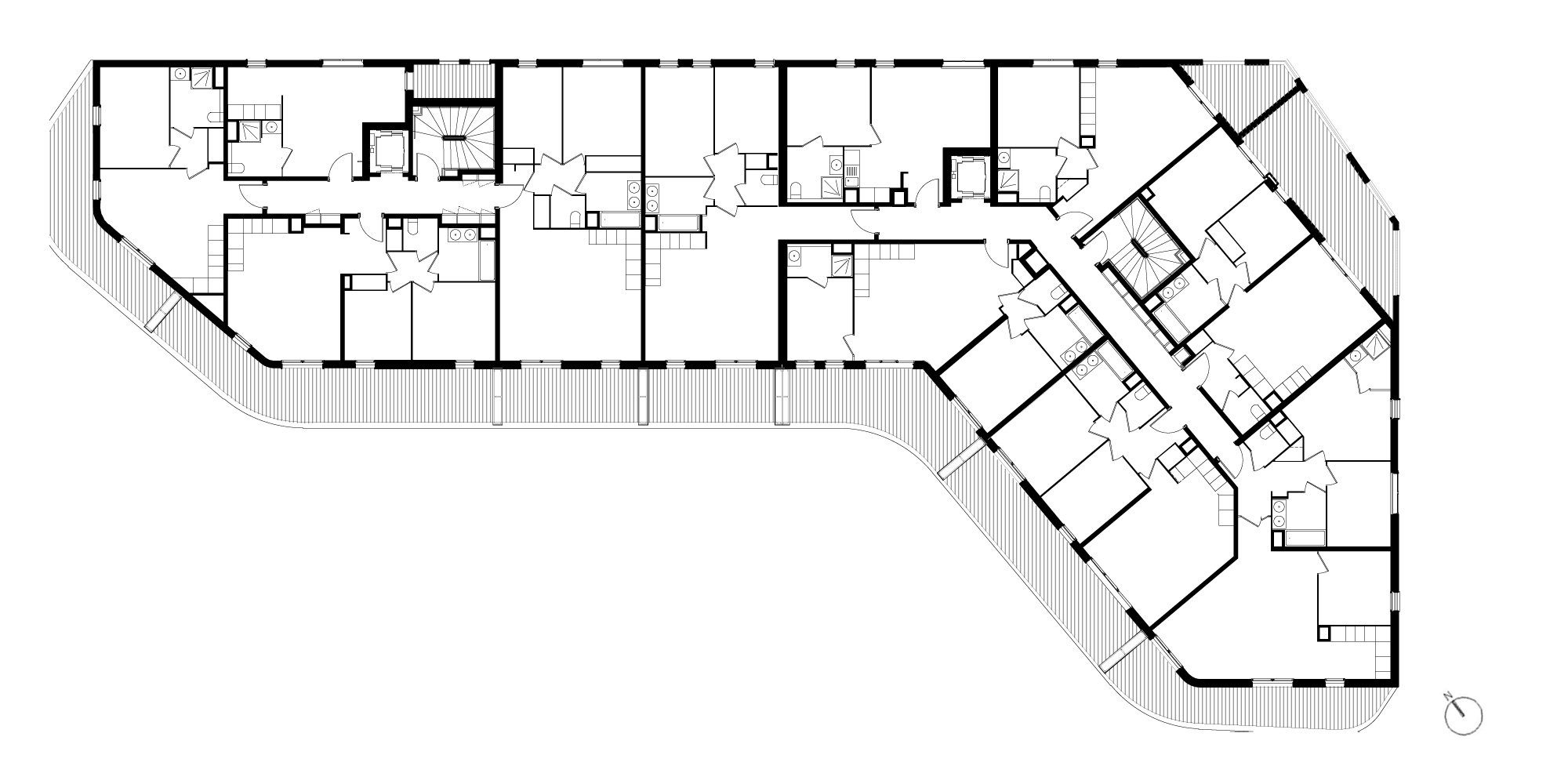 Second Floor Plan © PietriArchitectes
