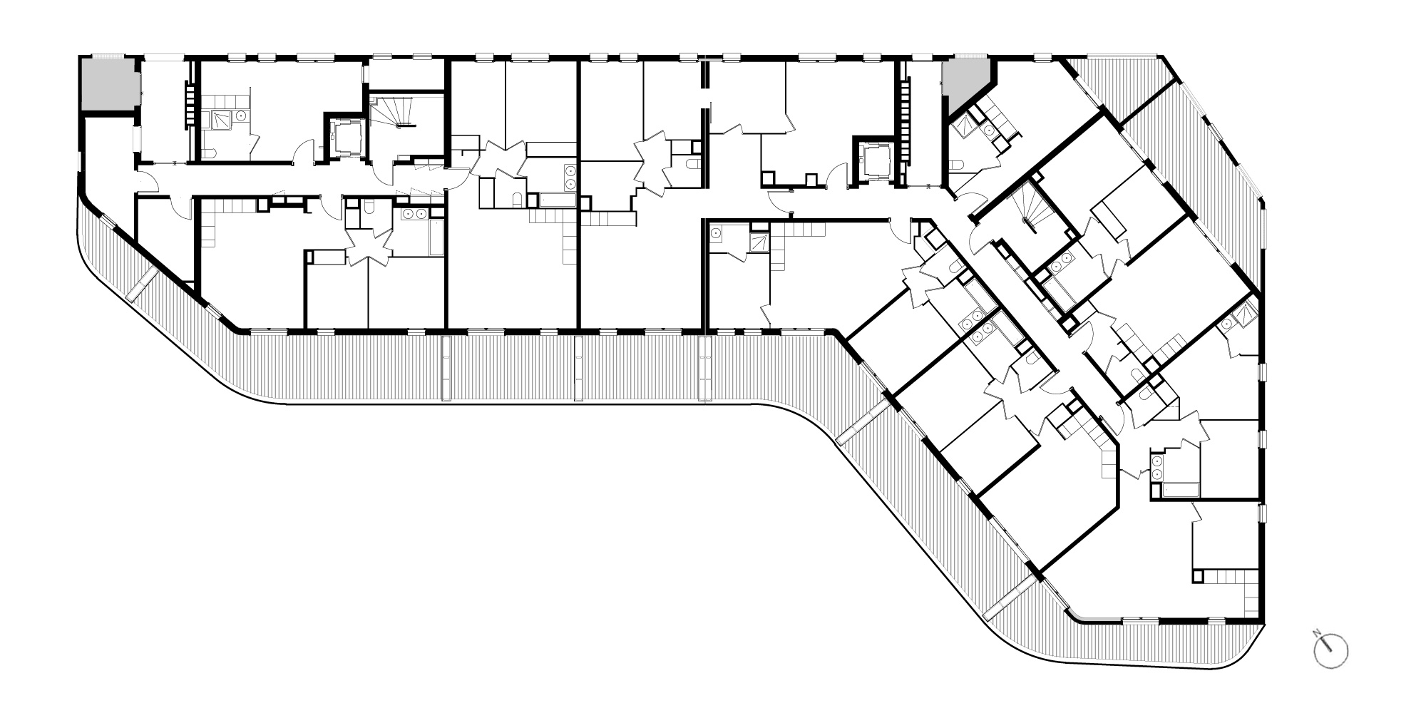 Ground Floor Plan © PietriArchitectes