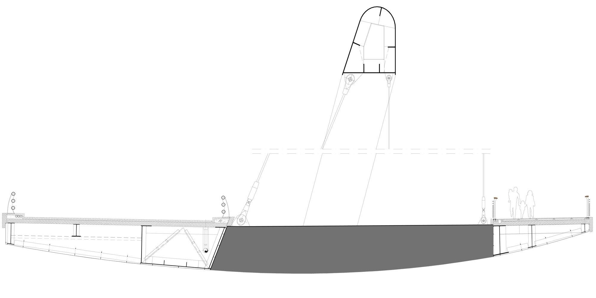Sezione AA © Richard Meier & Partners Architects