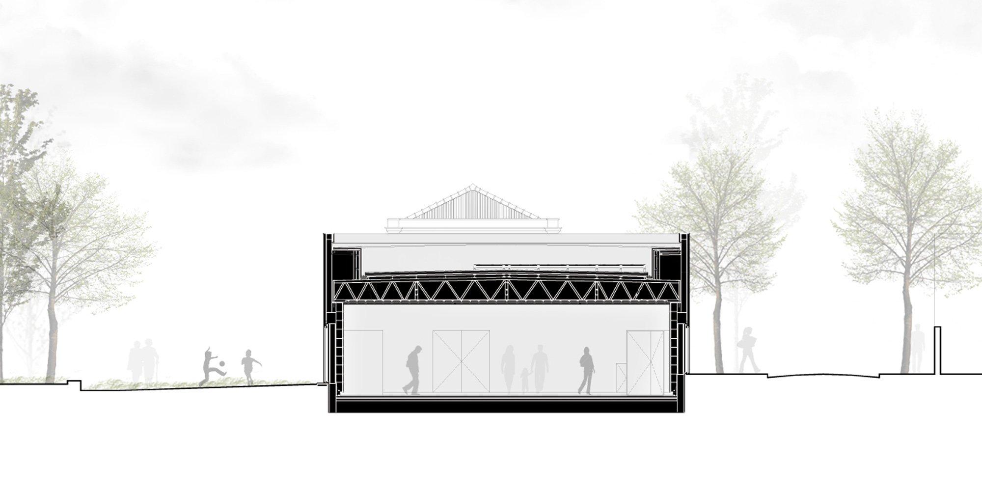 AA Section © CVDB Arquitectos Associados