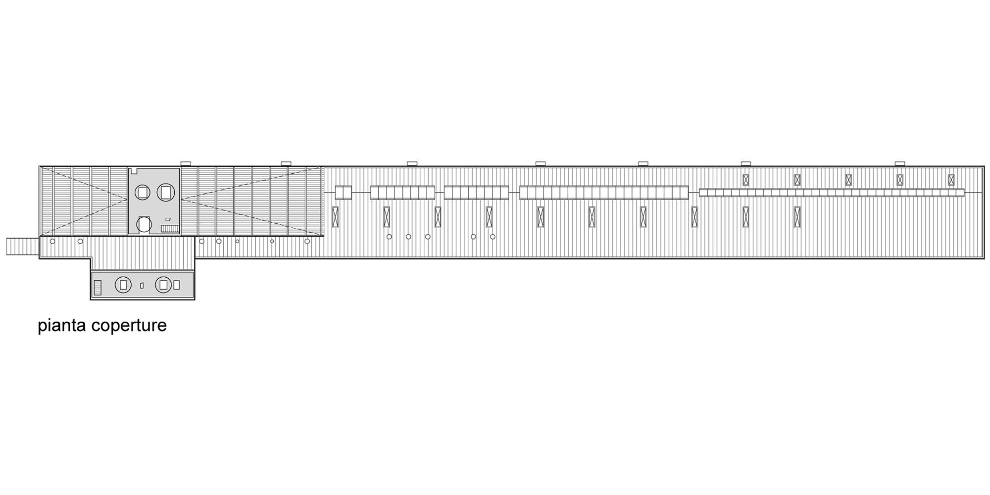 Pianta coperture © Valle Architetti Associati