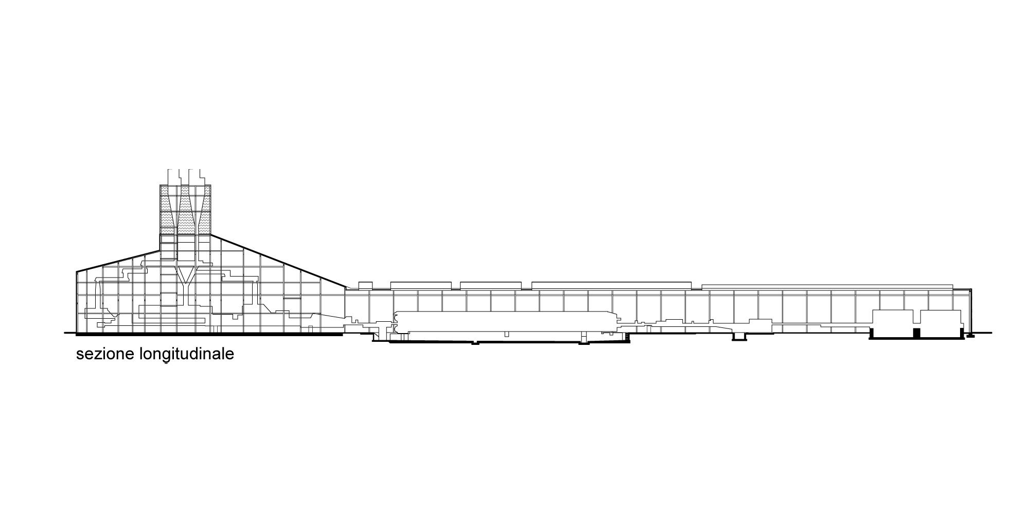 Sezione longitudinale © Valle Architetti Associati