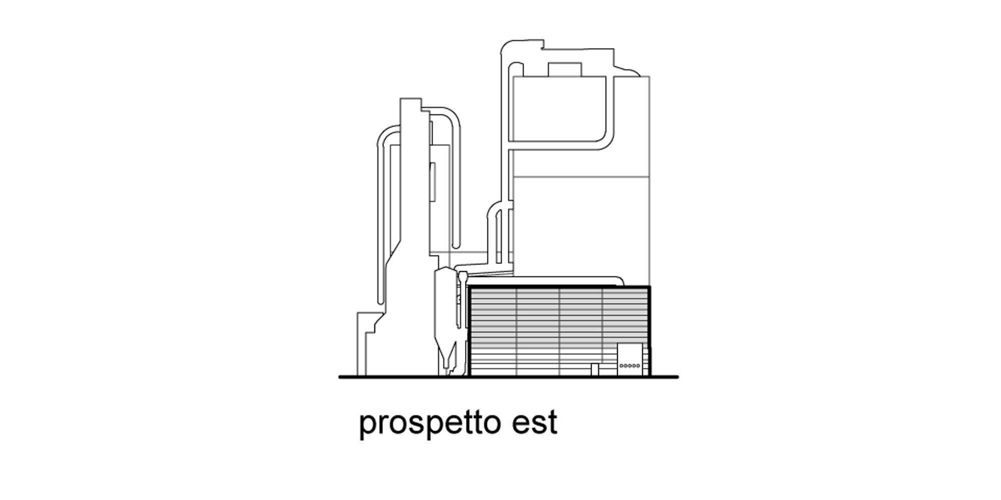 East elevation © Valle Architetti Associati