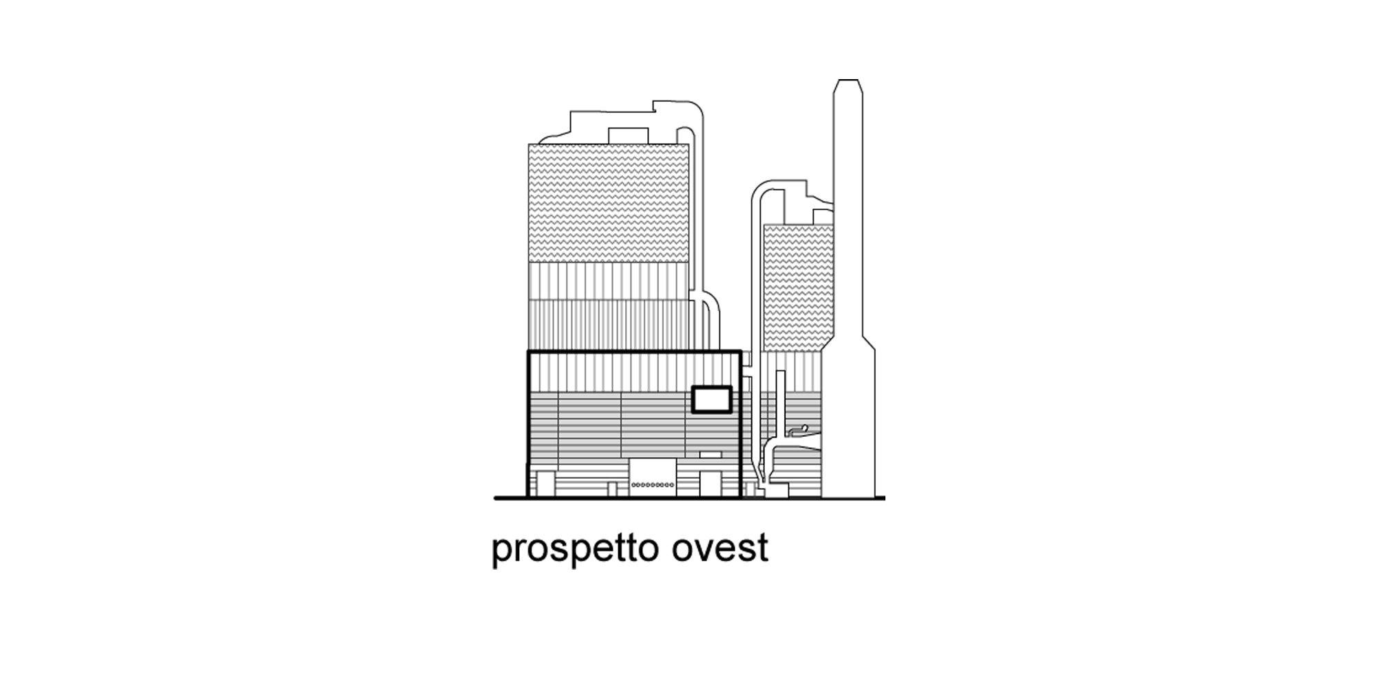 Prospetto ovest © Valle Architetti Associati