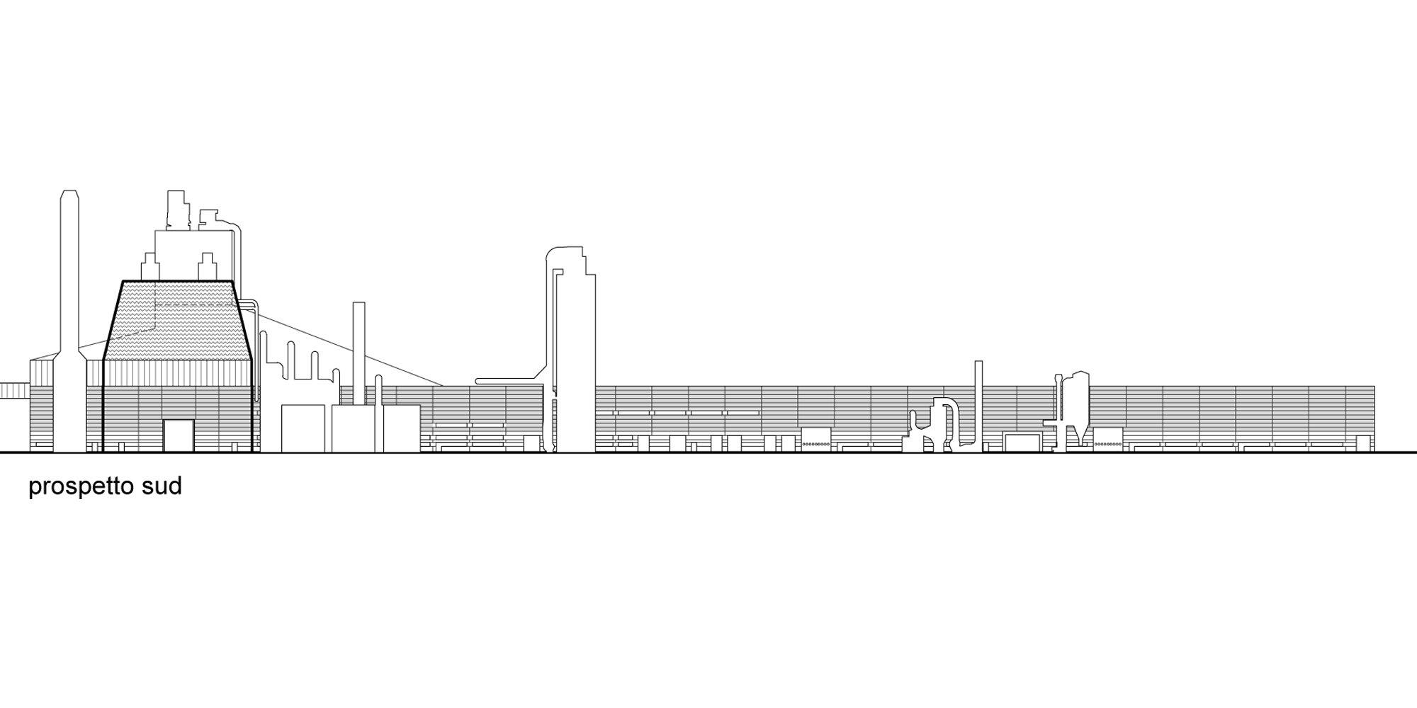 Prospetto sud © Valle Architetti Associati