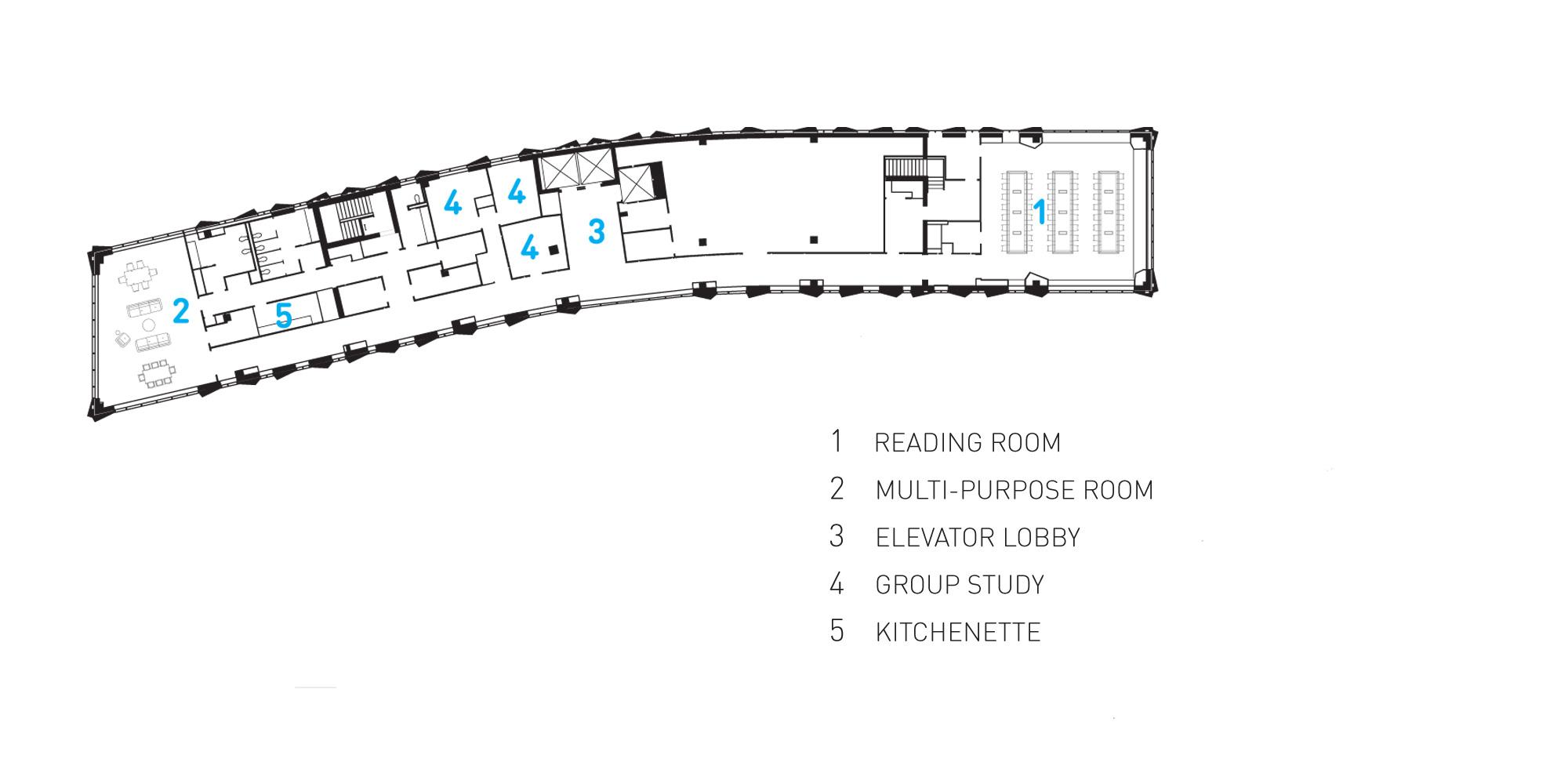 Fifteenth floor plan © Studio Gang