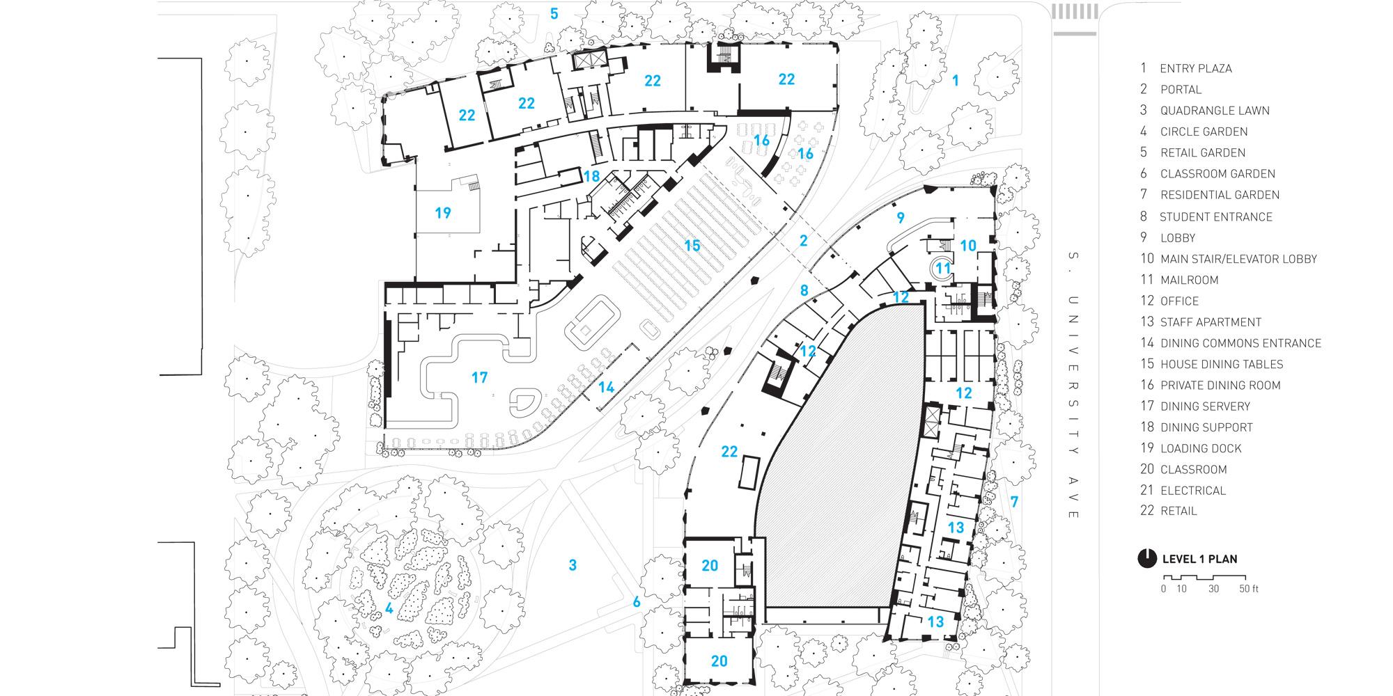 First floor plan © Studio Gang