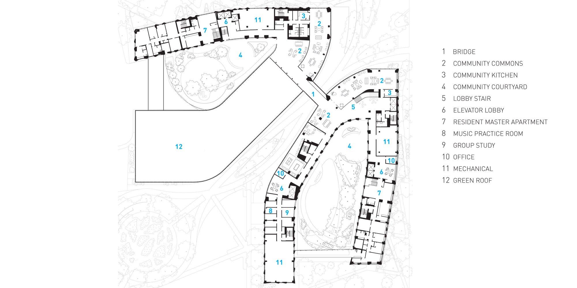 Second floor plan © Studio Gang