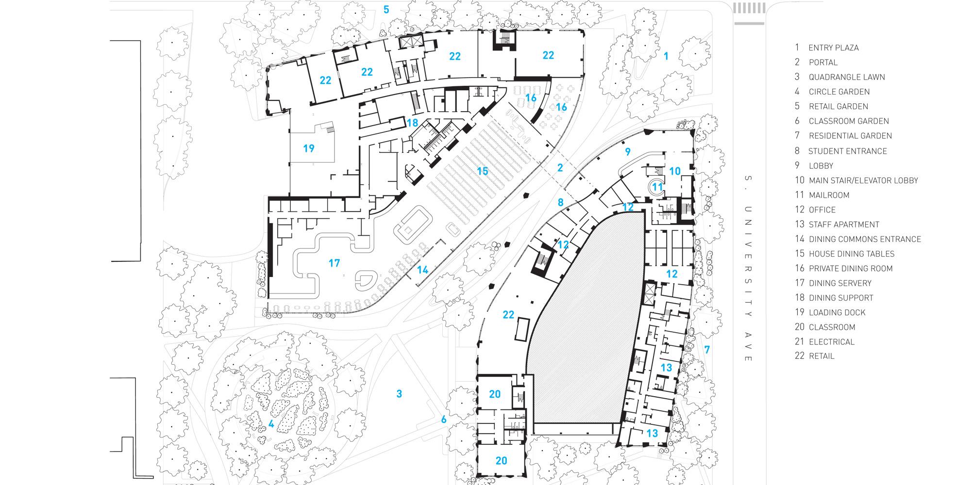Third floor plan © Studio Gang