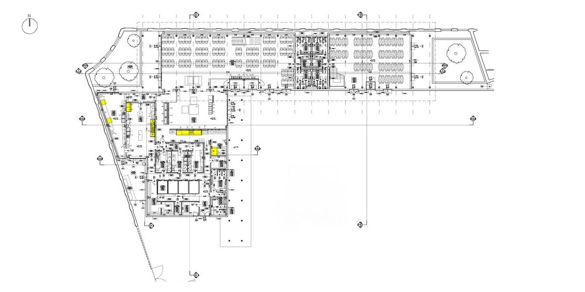 pianta piano terra edificio h © ODB - LRA