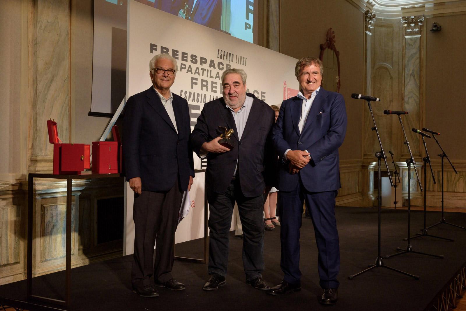 Cerimonia di premiazione - Souto de Moura © La Biennale di Venezia