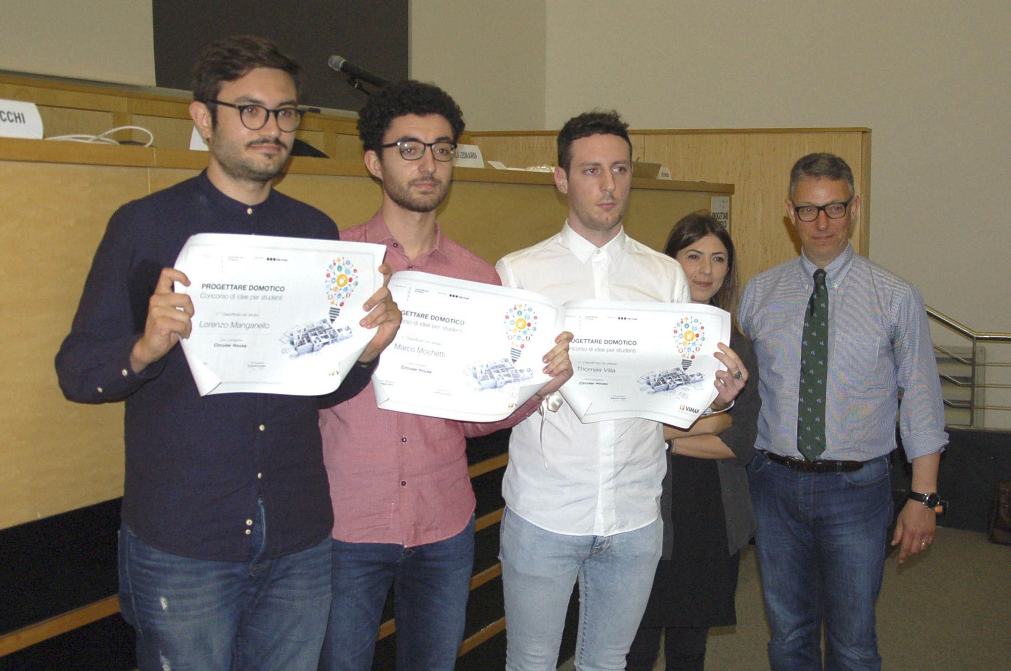 Premiazione progetto Circular House