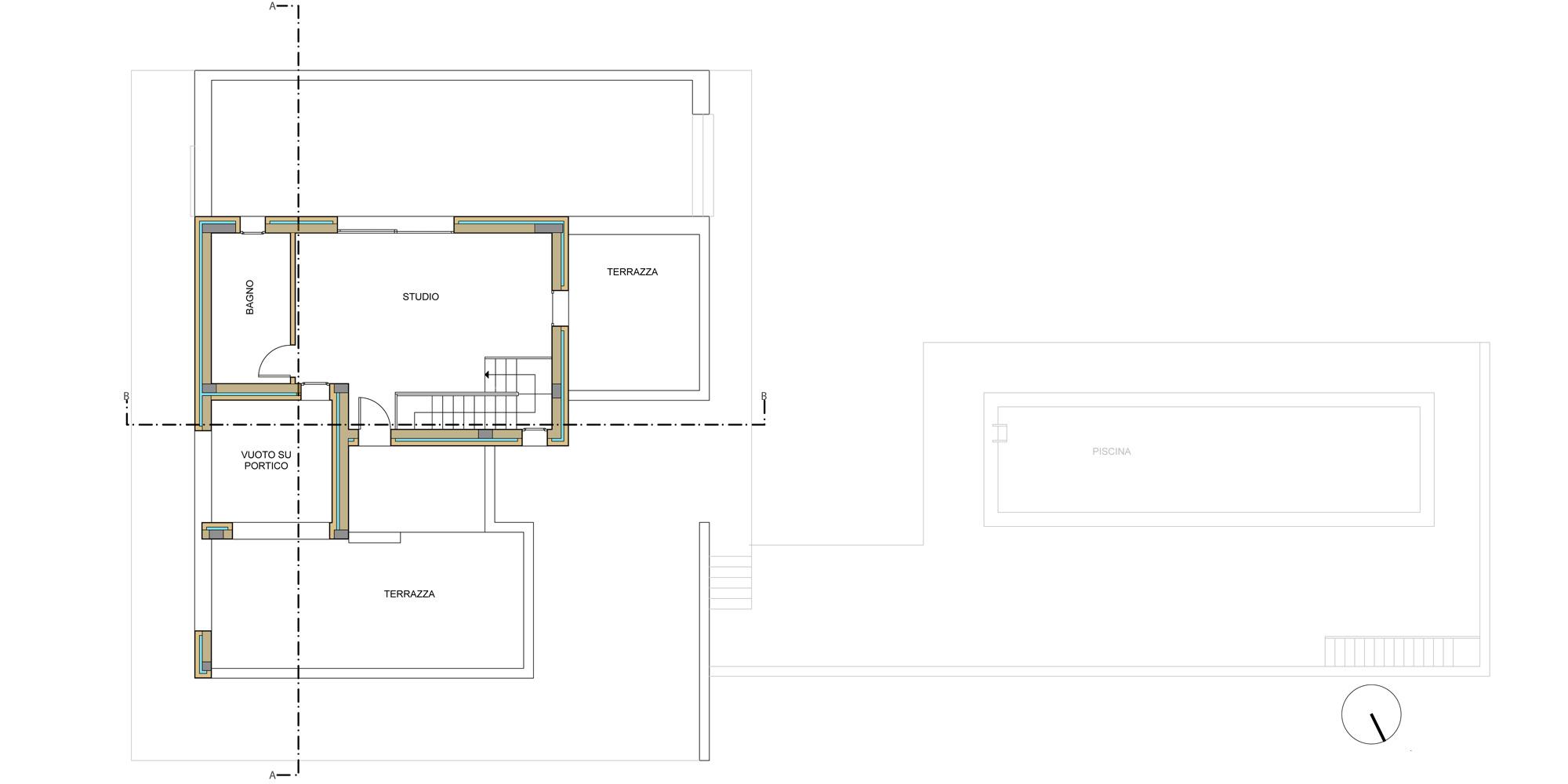 FIRST FLOOR PLAN © Francesco Pascali Architetto