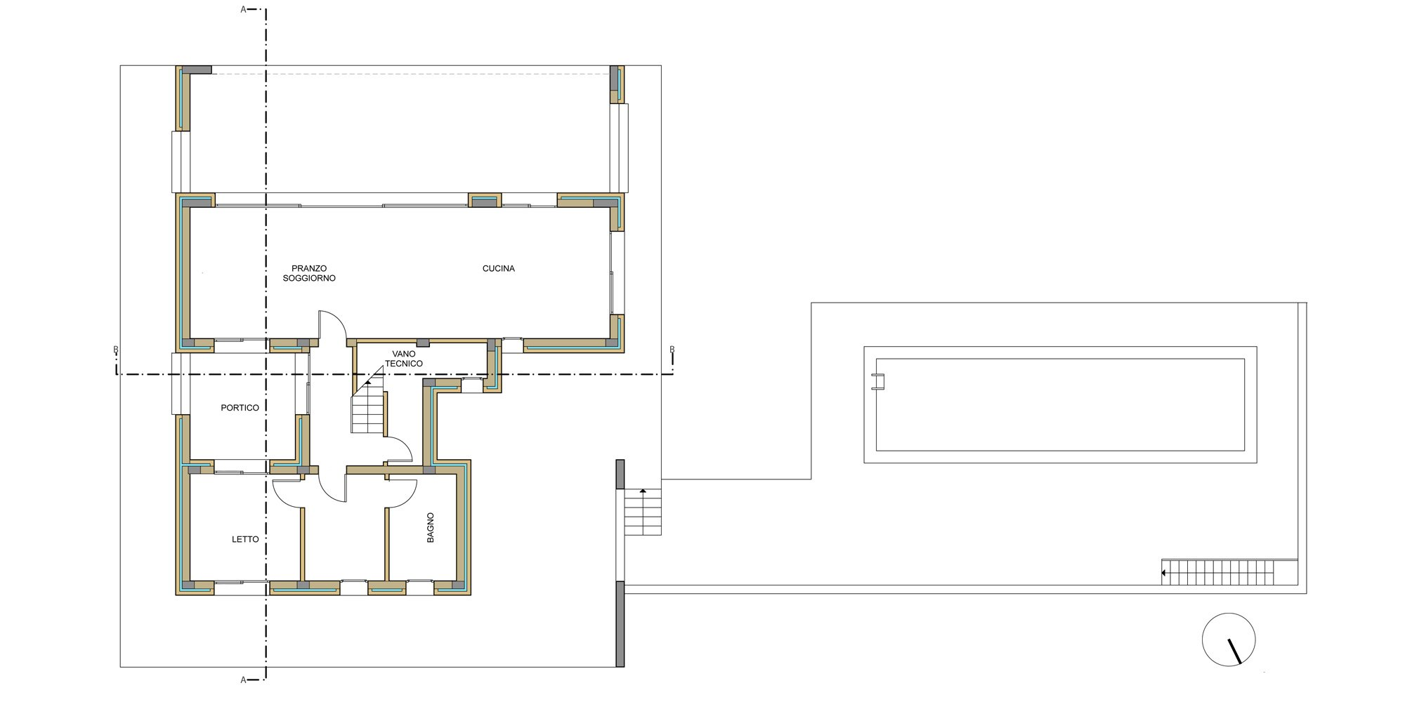 GROUND FLOOR PLAN © Francesco Pascali Architetto