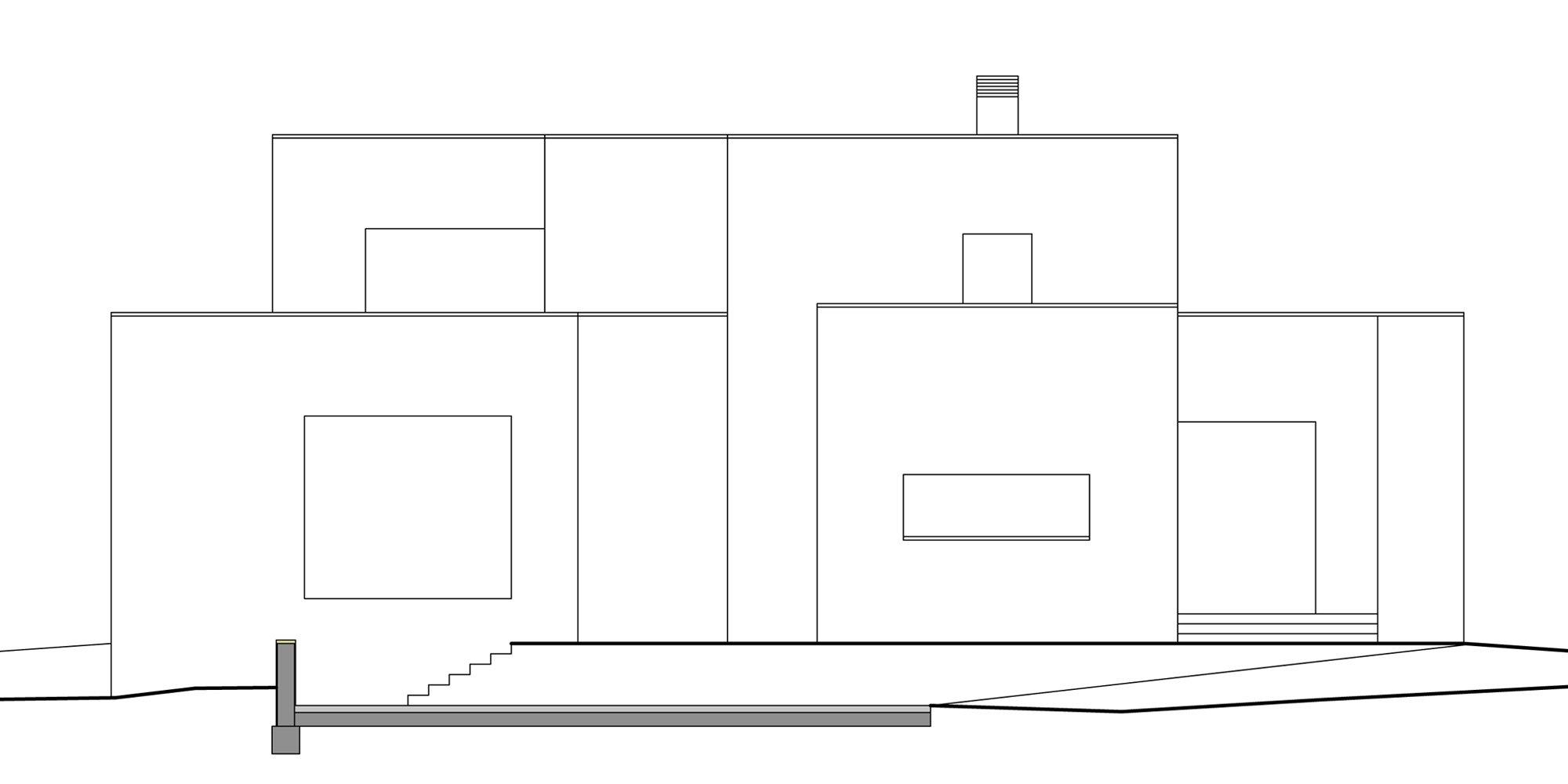 PROSPETTO OVEST © Francesco Pascali Architetto