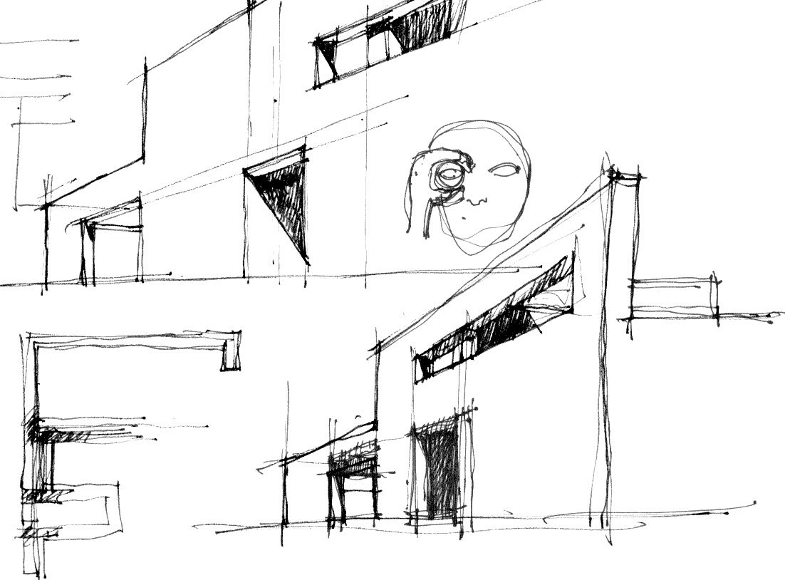 schizzo di studio © Francesco Pascali Architetto