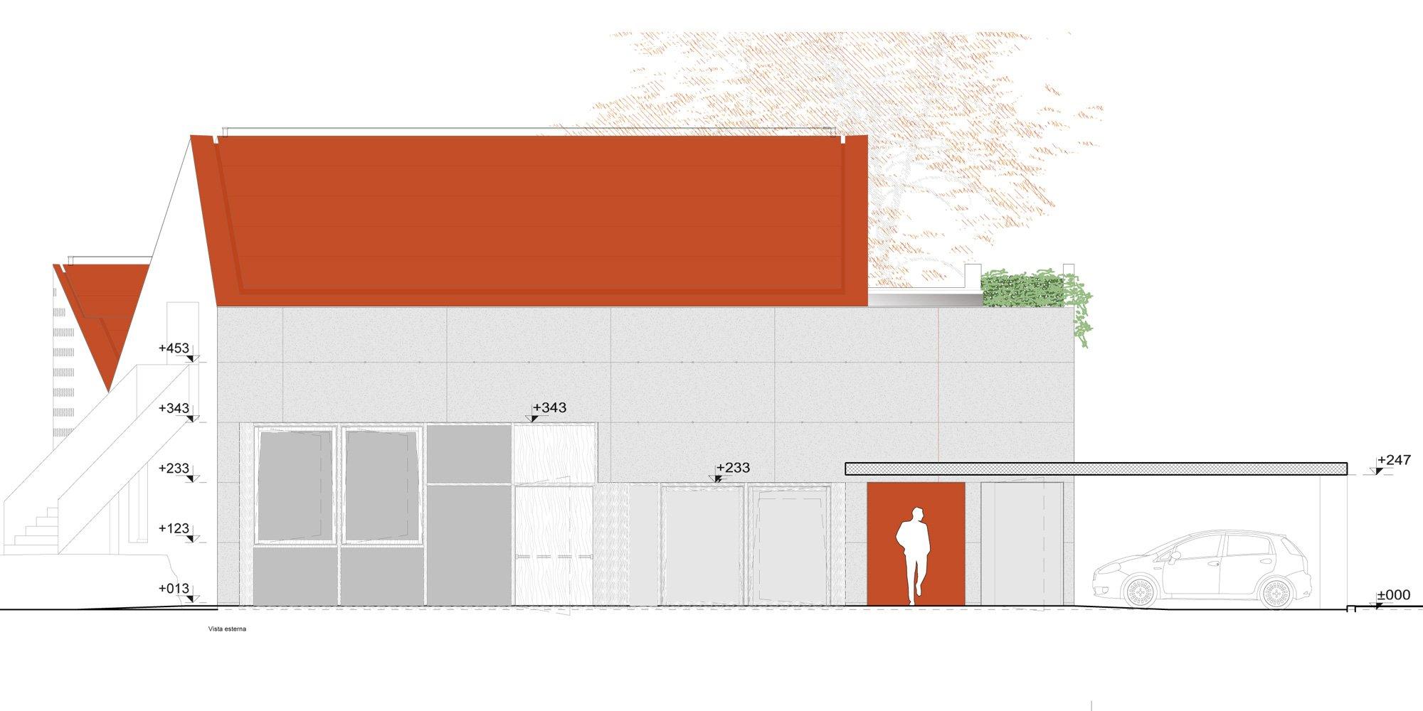 Prospetto ovest © Studio Davanzo Architetti