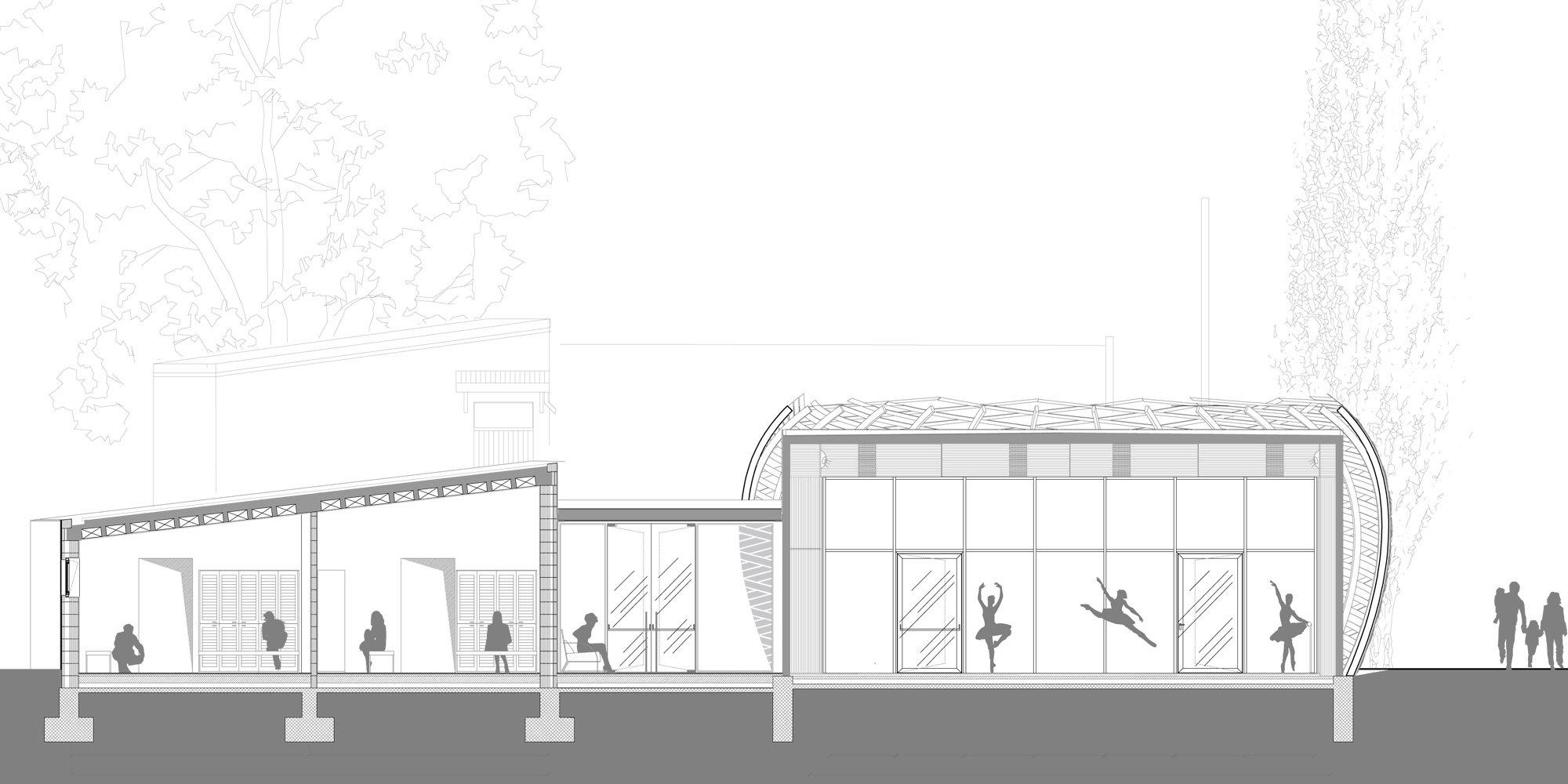 Sezione AA © Mario Cucinella Architects