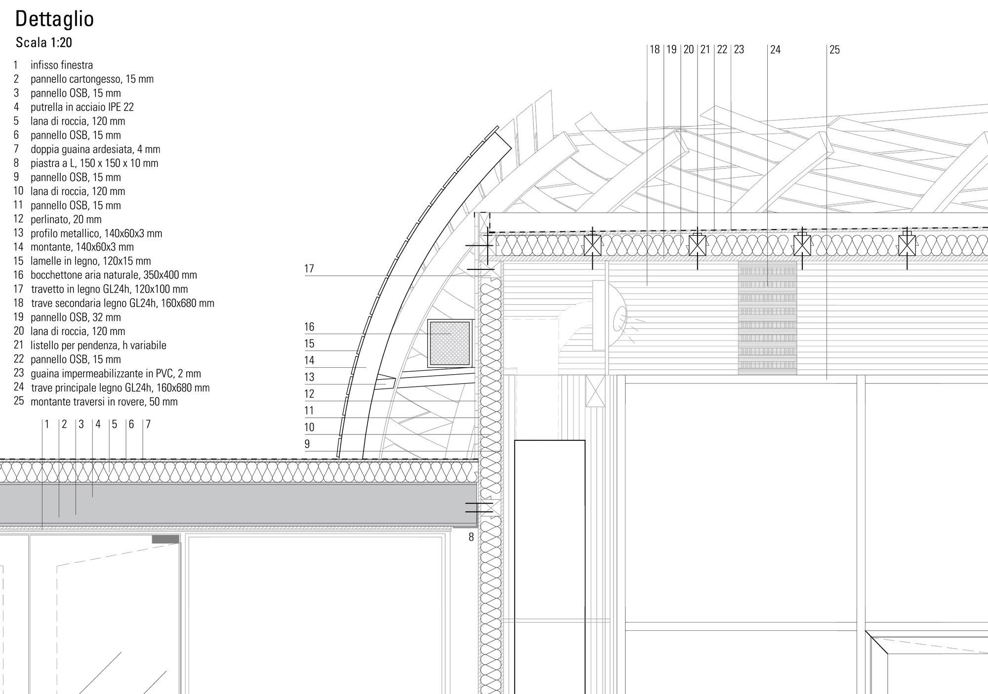 Dettaglio A © Mario Cucinella Architects