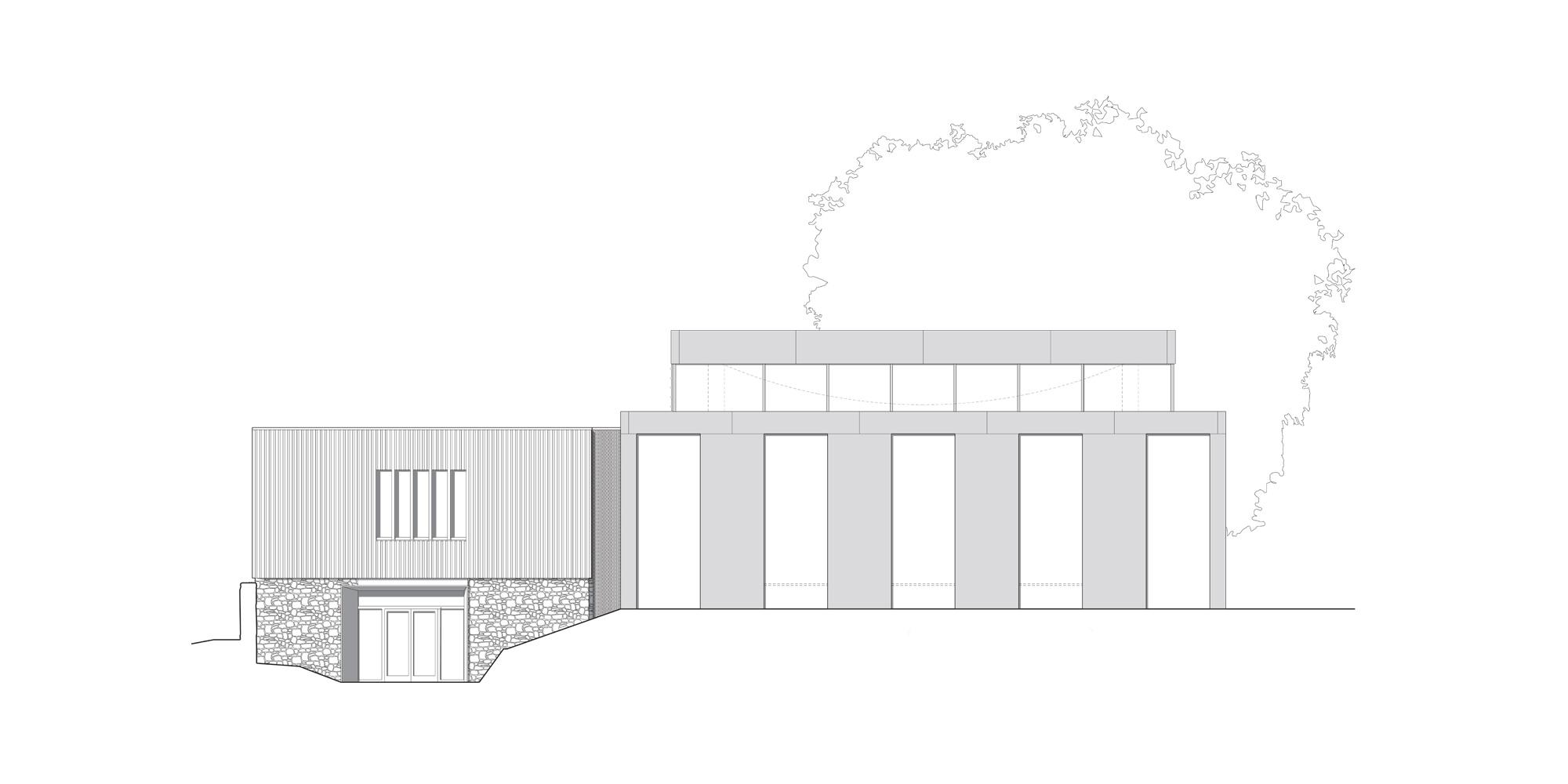 Prospetto Est © Eric Parry Architects