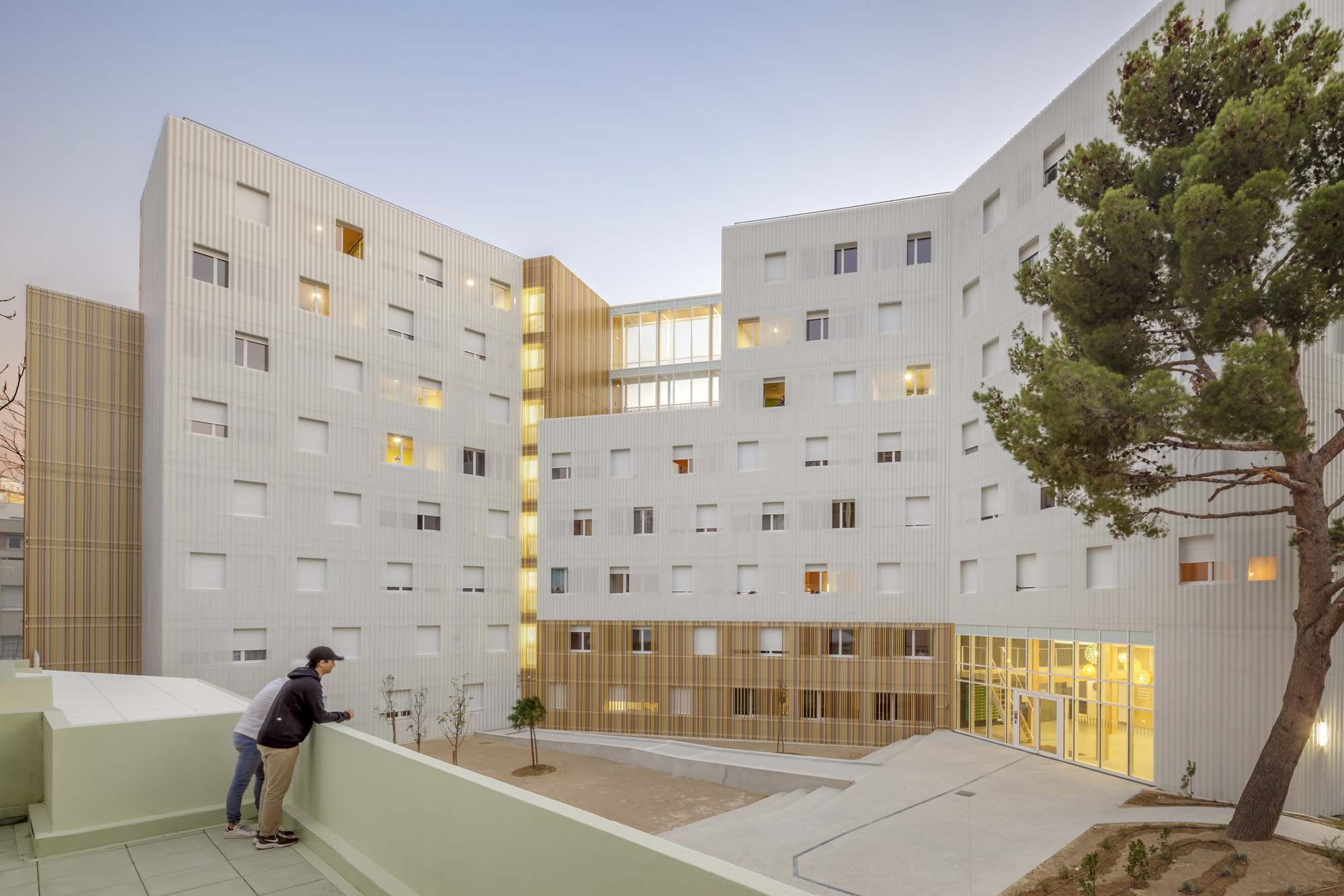 LUCIEN CORNIL STUDENT RESIDENCE © Benoît Wehrlé courtesy A+Architecture