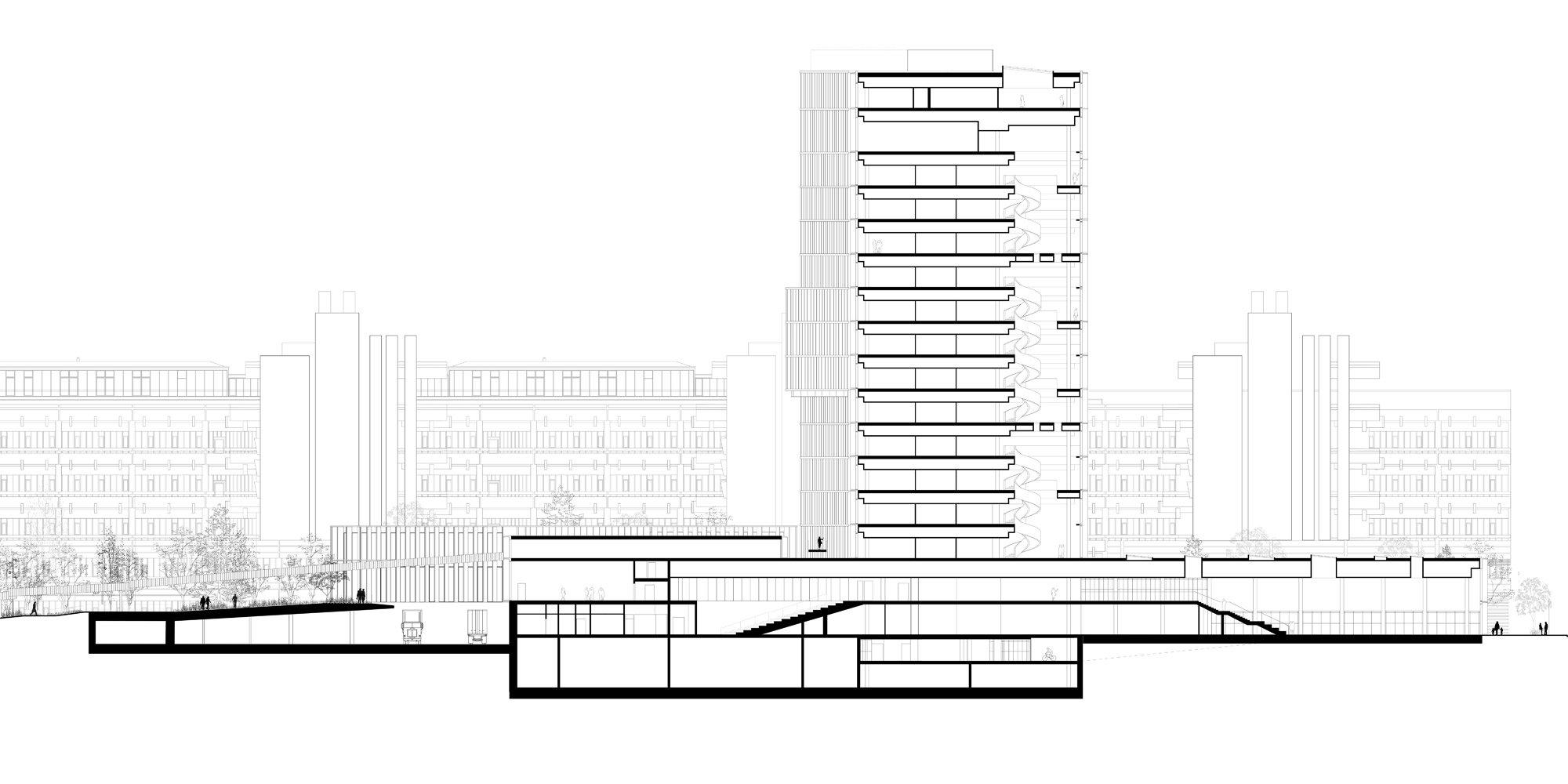 Sezione AA © C.F. Møller Architects