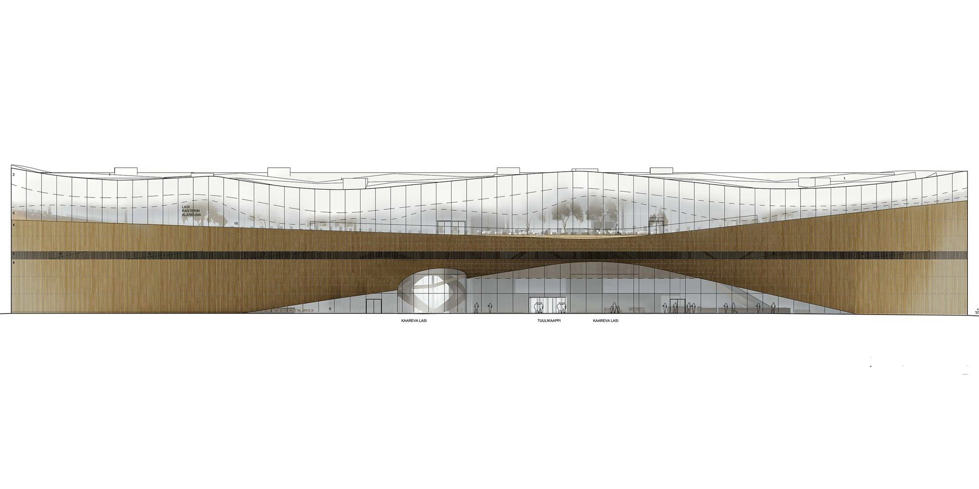Prospetto Ovest © Ala Architects