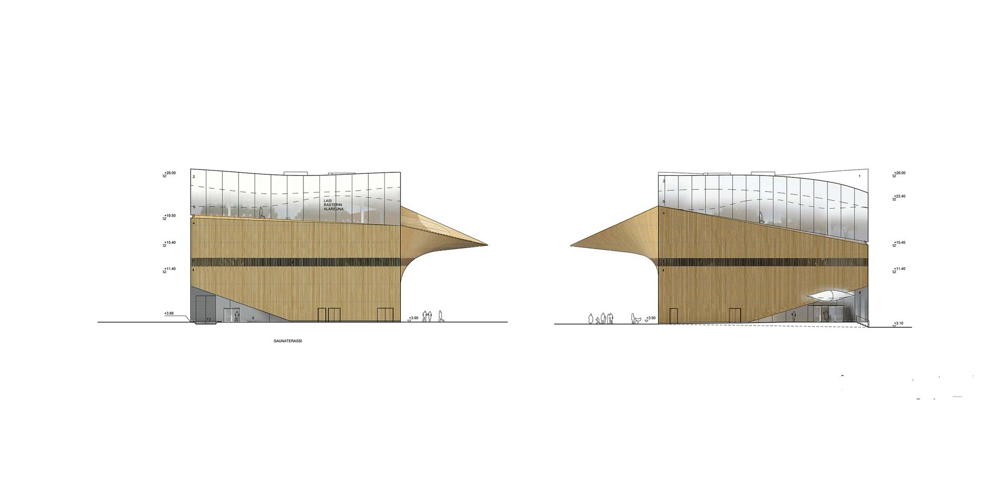 North and South Elevations © Ala Architects