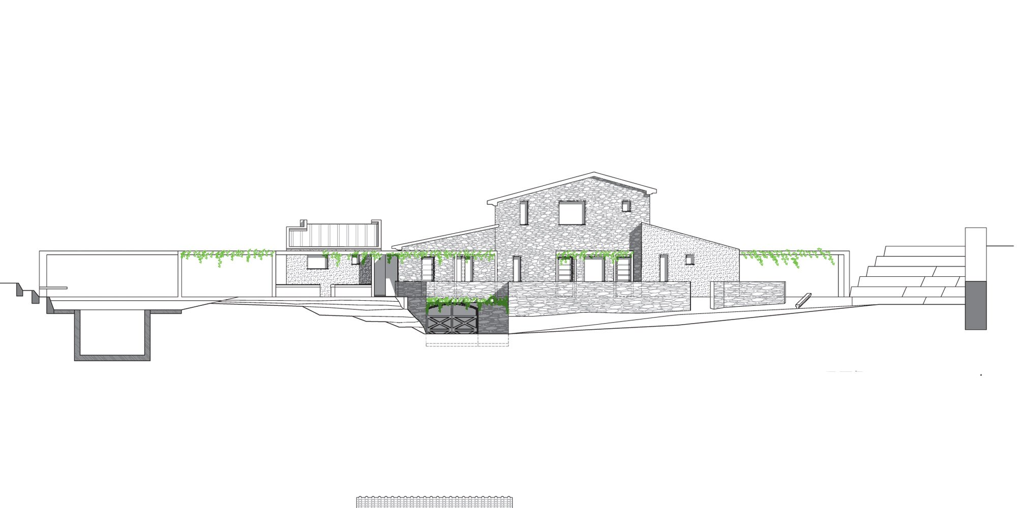 West Elevation © Susanna Nobili Architettura