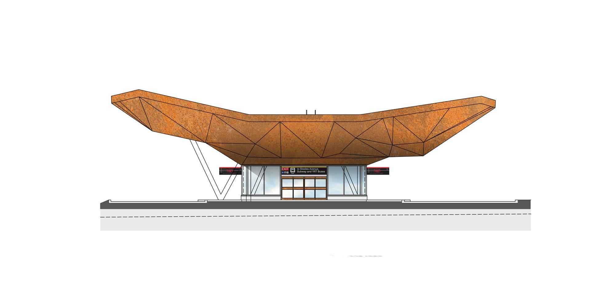 Prospetto ovest - Terminal autobus © aLL Design, TSGA