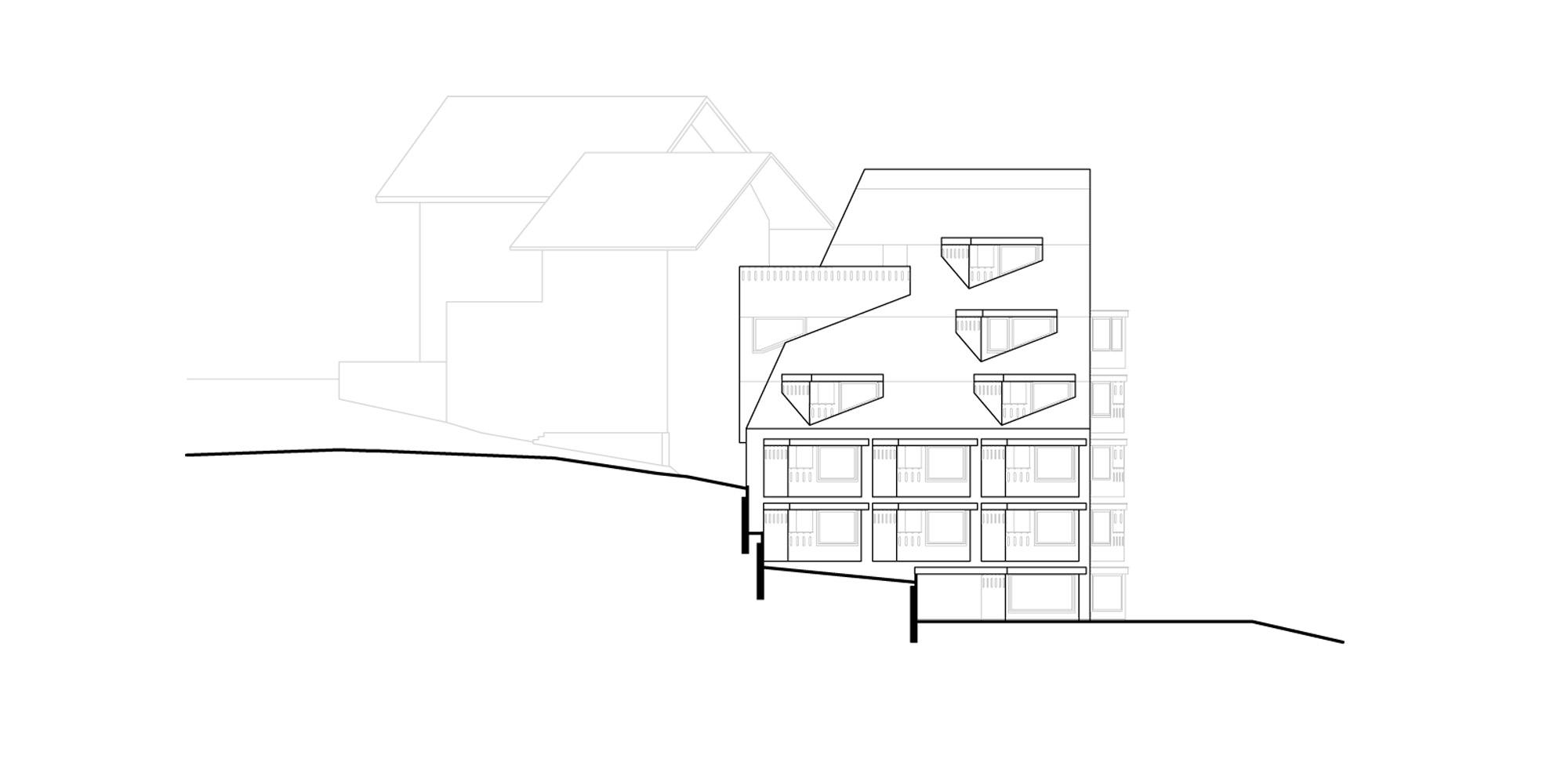 Prospetto sud © Pedevilla Architects