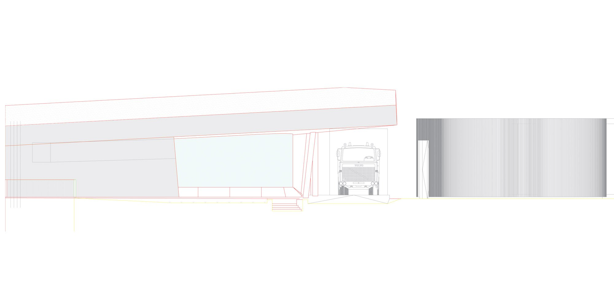 Prospetto ovest © Studio Seilern Architects