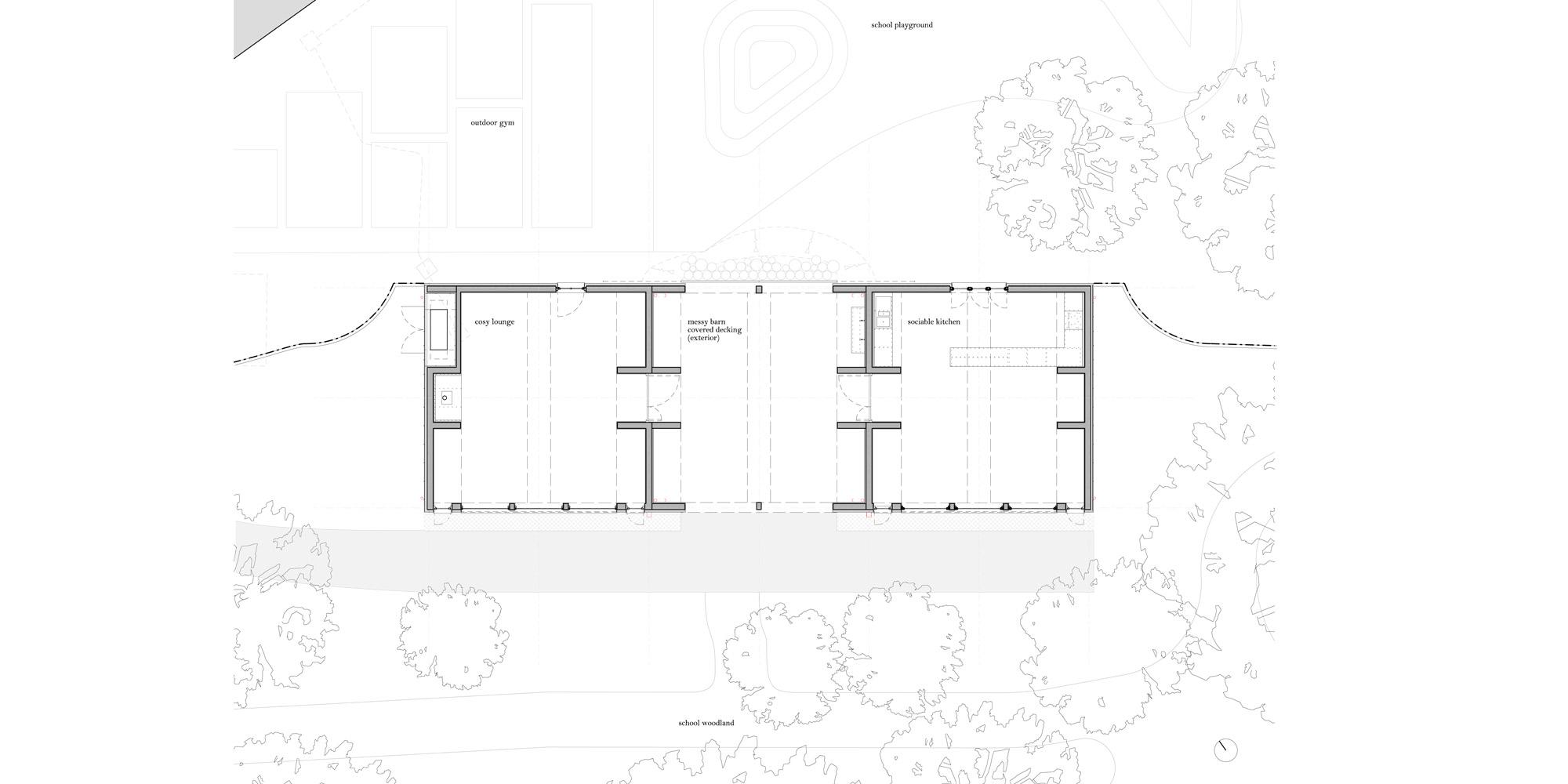 Ground floor plan © Studio Weave