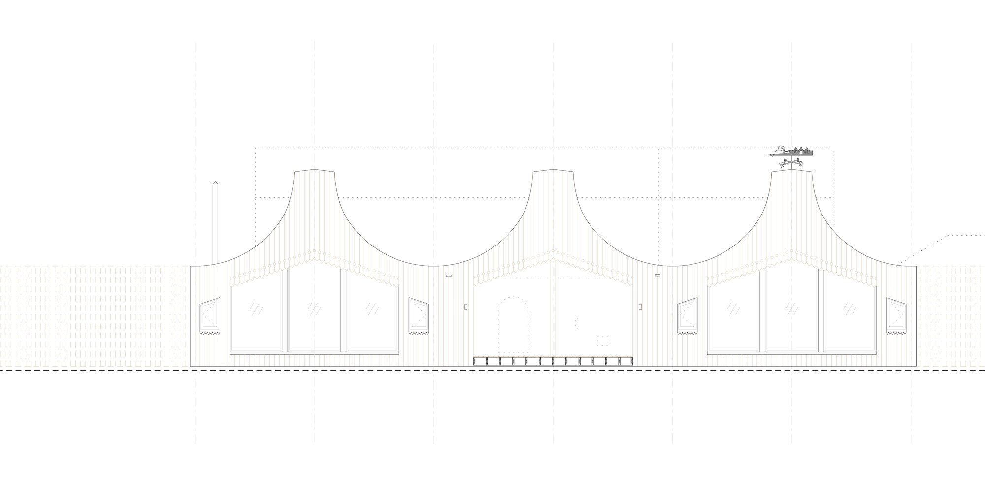 South-west elevation © Studio Weave