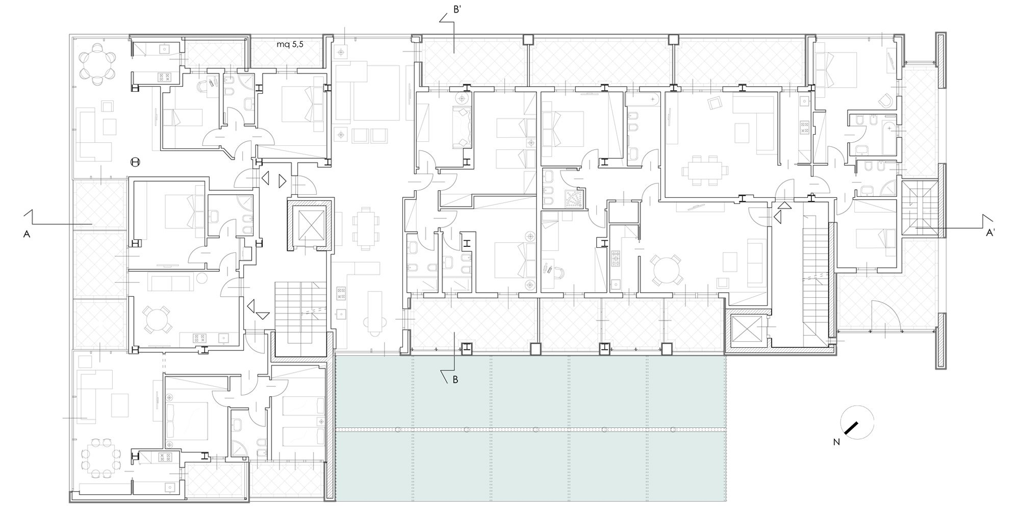 Second floor plan © Cantini&Partners
