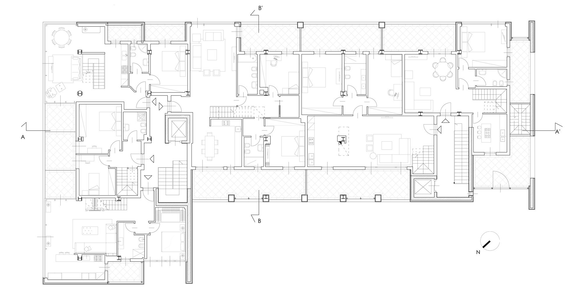 Third floor plan © Cantini&Partners