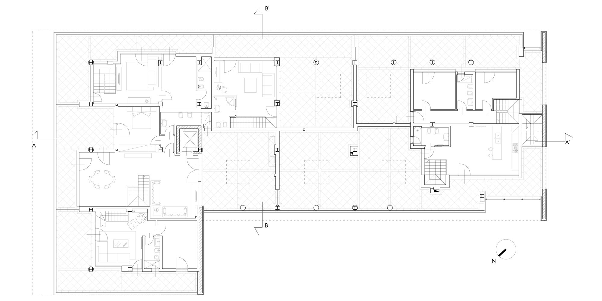 Fourth floor plan © Cantini&Partners