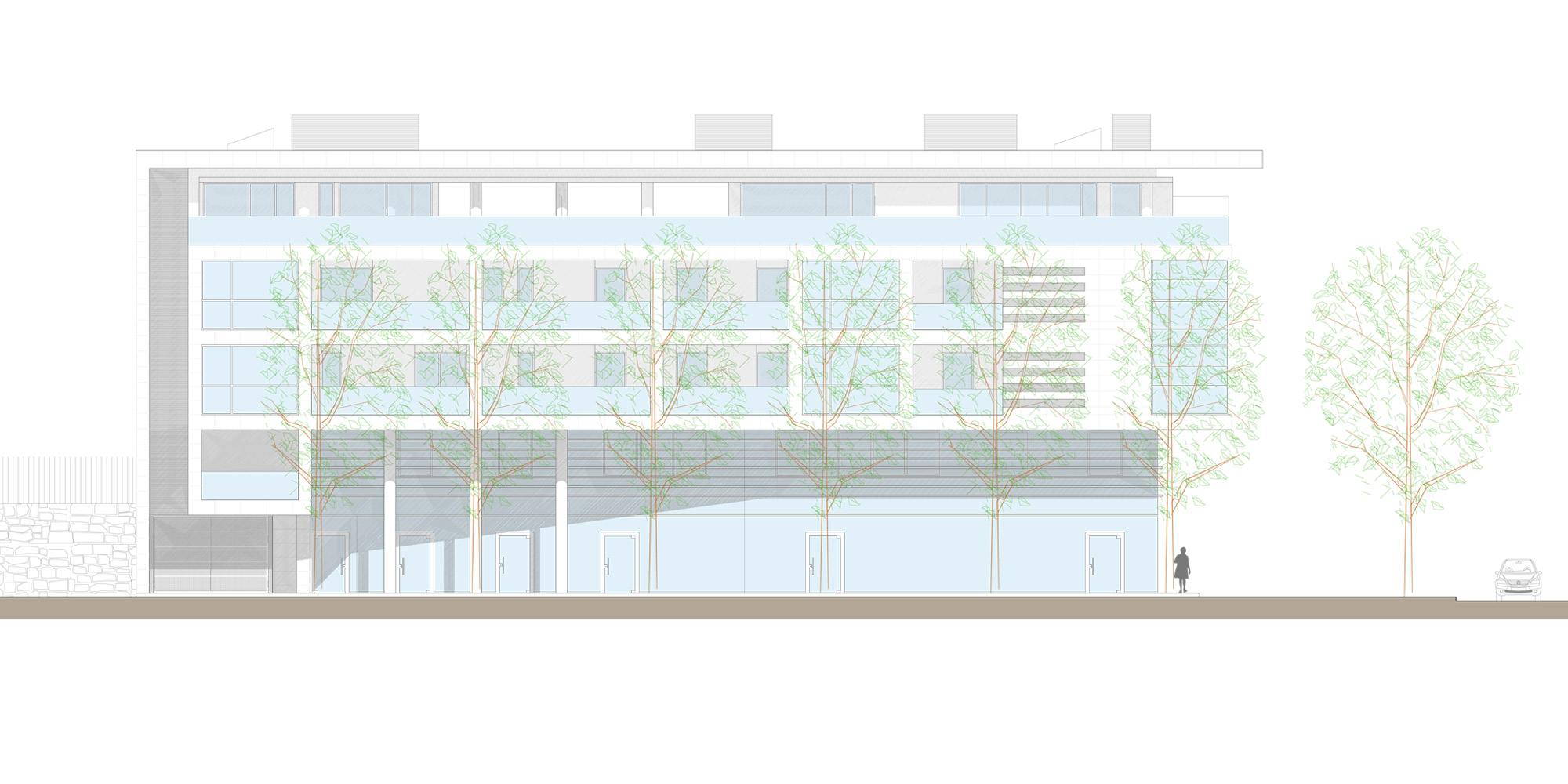 South-east elevation © Cantini&Partners