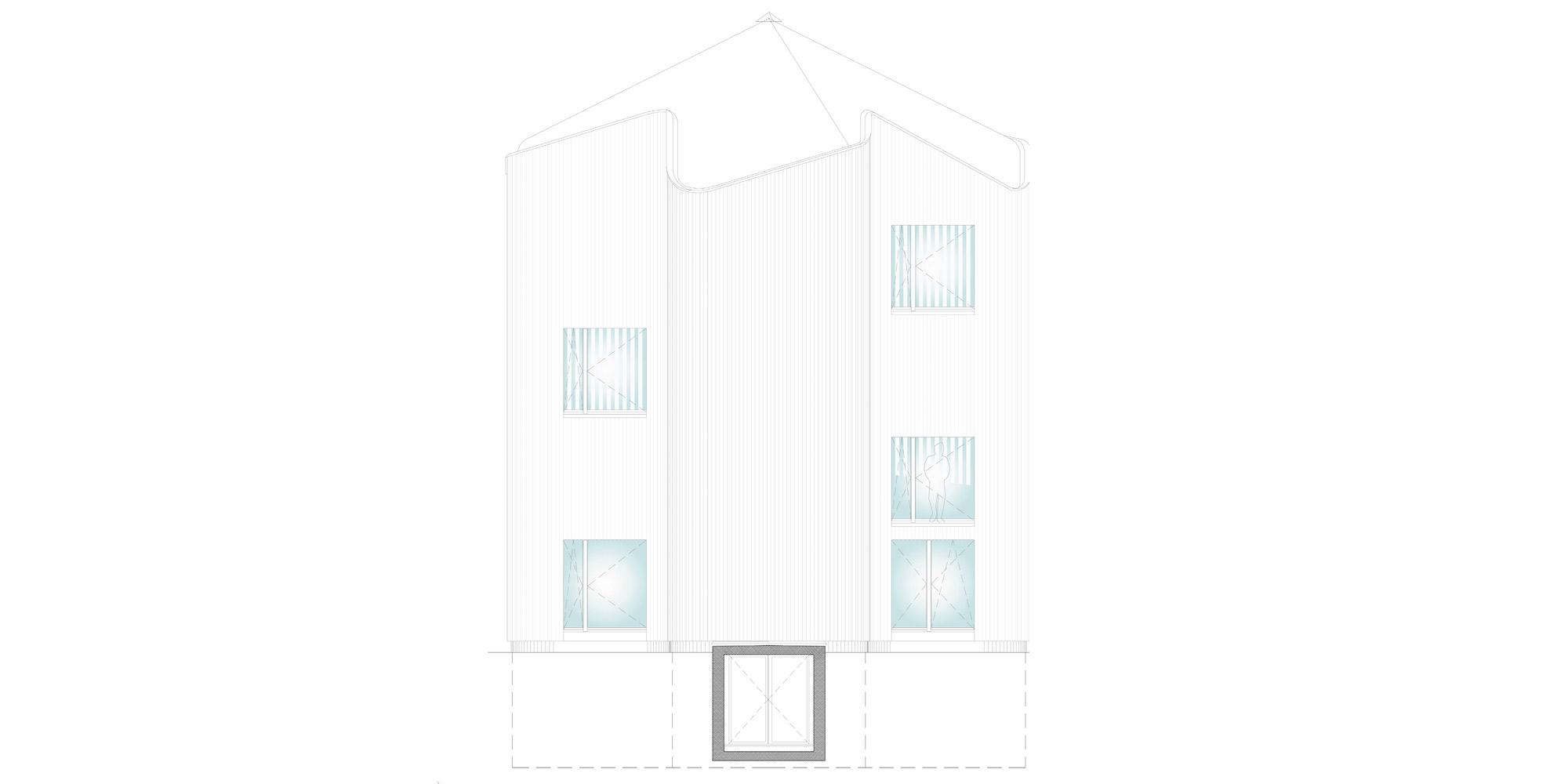 West elevation © Davide Macullo Architects